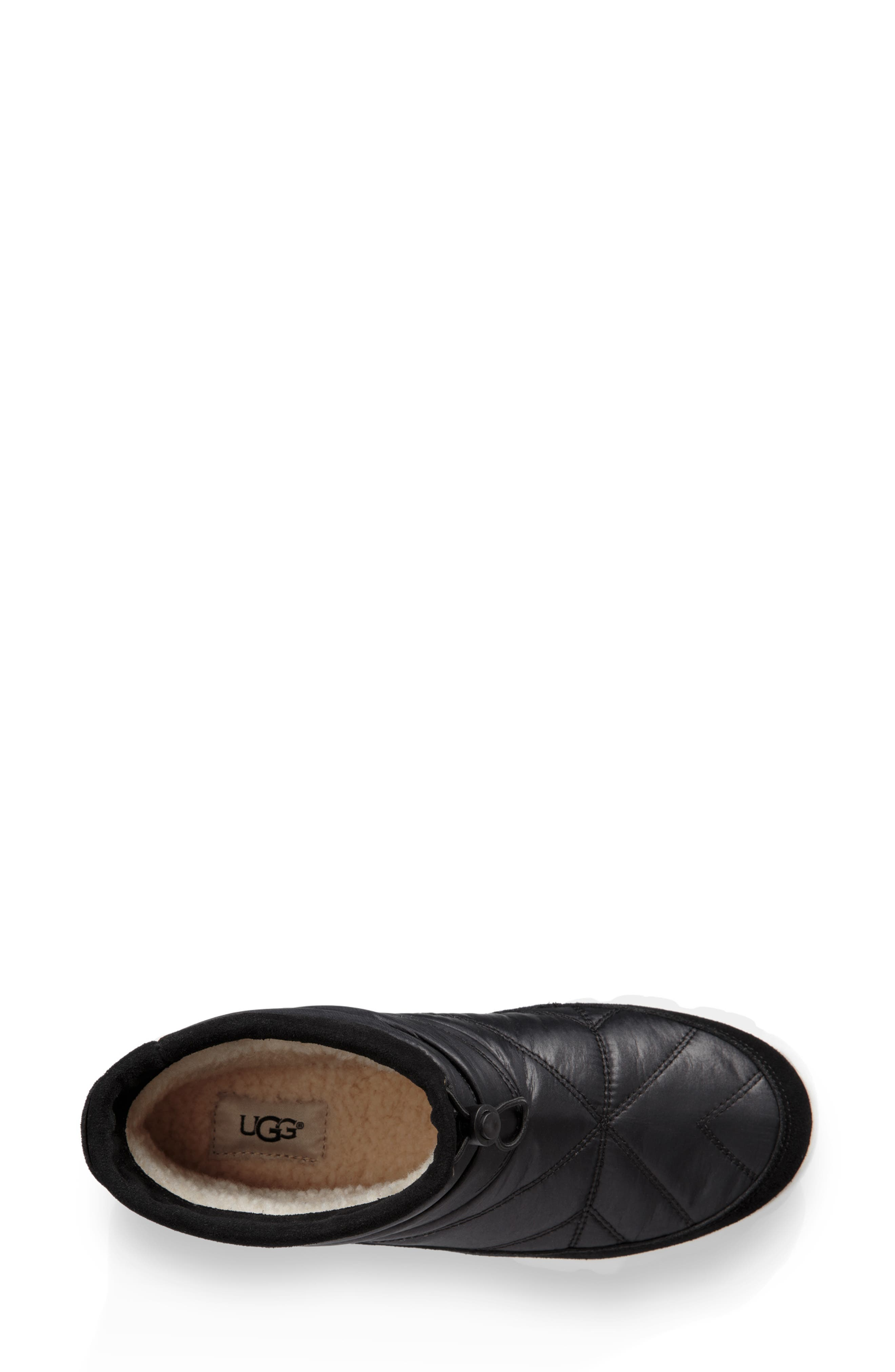 Centara Water Resistant Quilted Bootie,                             Alternate thumbnail 4, color,                             BLACK