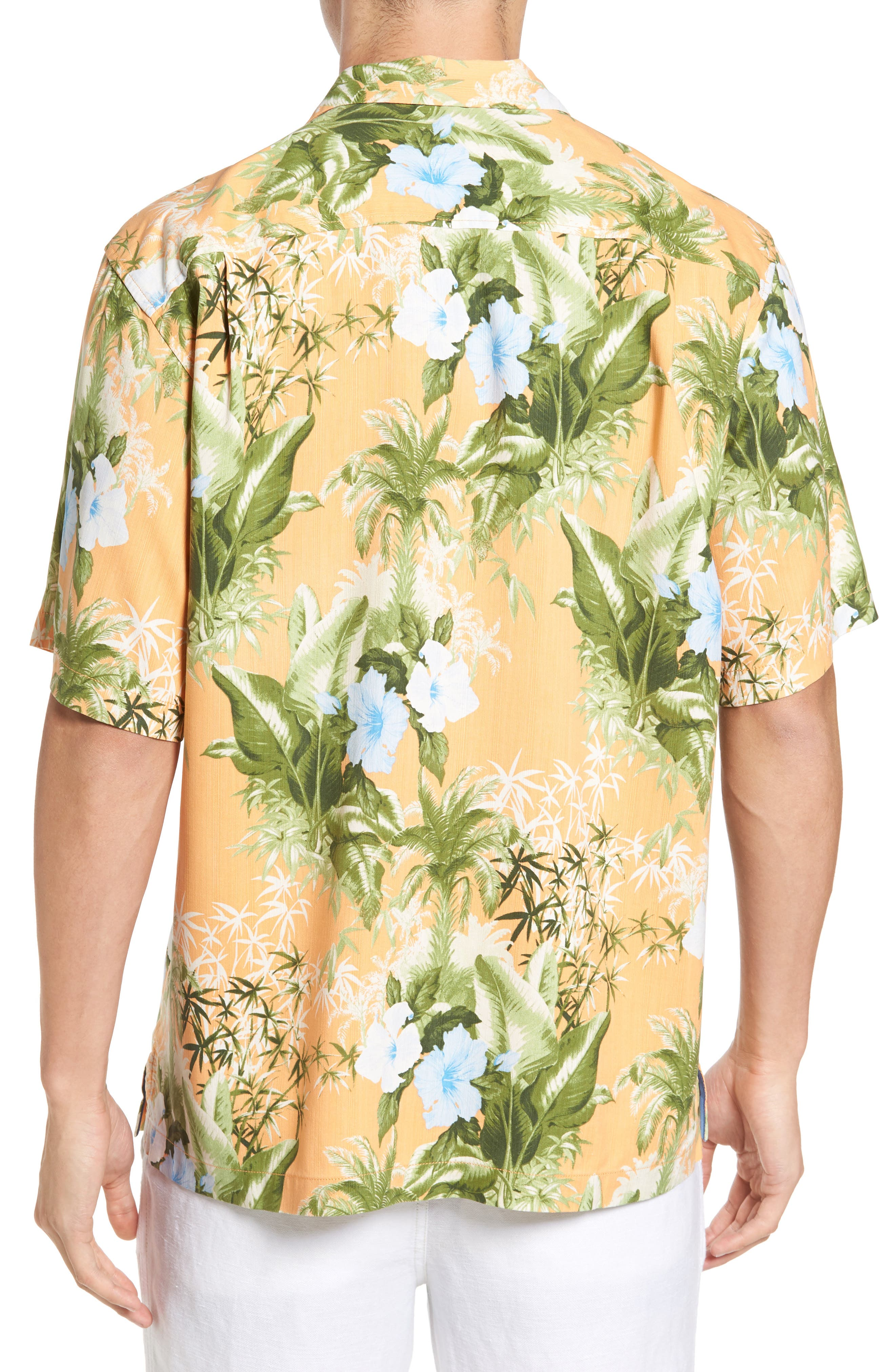 Corfu Jungle Silk Camp Shirt,                             Alternate thumbnail 2, color,                             800