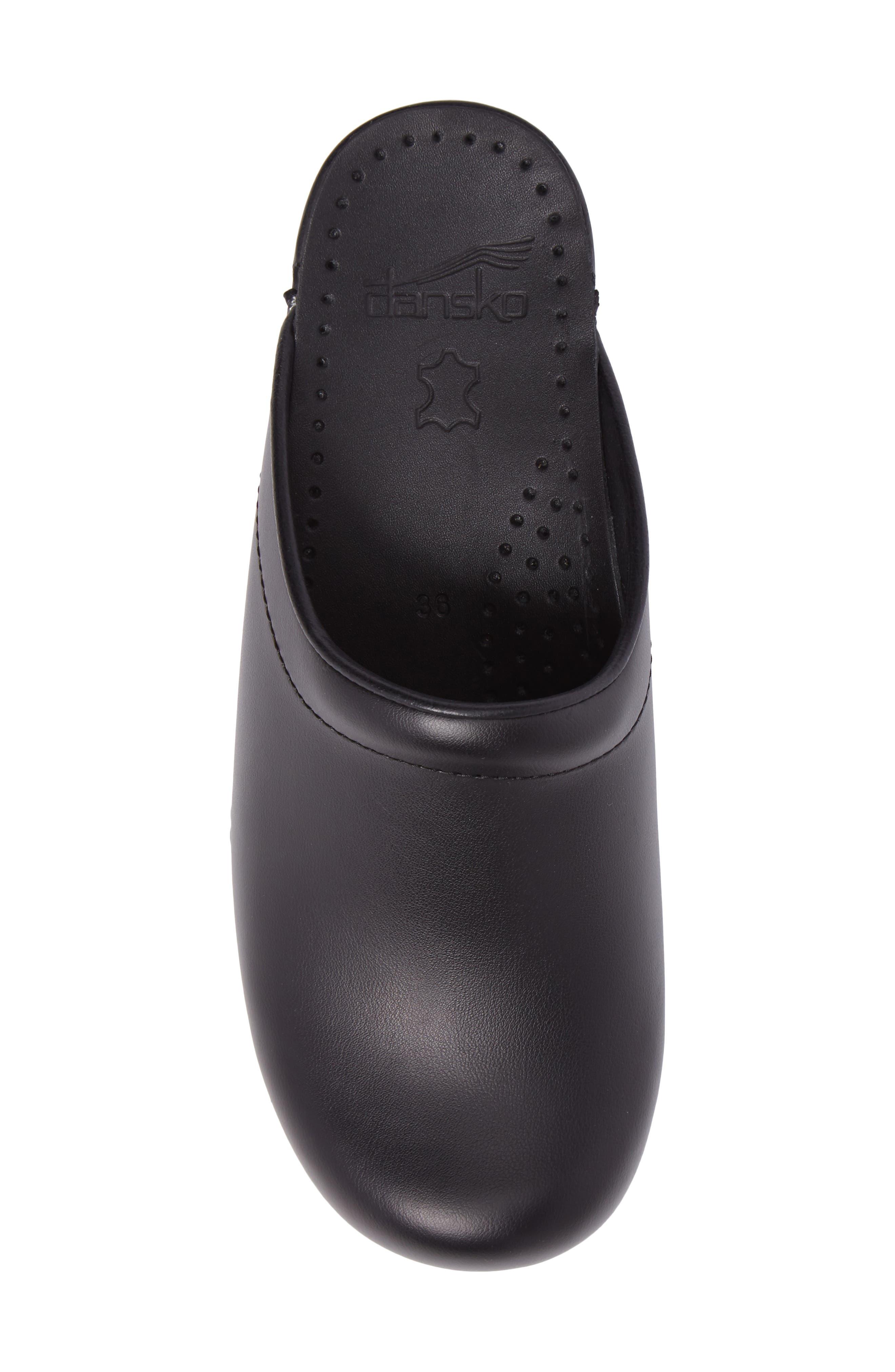 'Sonja' Patent Leather Clog,                             Alternate thumbnail 5, color,                             BLACK BOX LEATHER