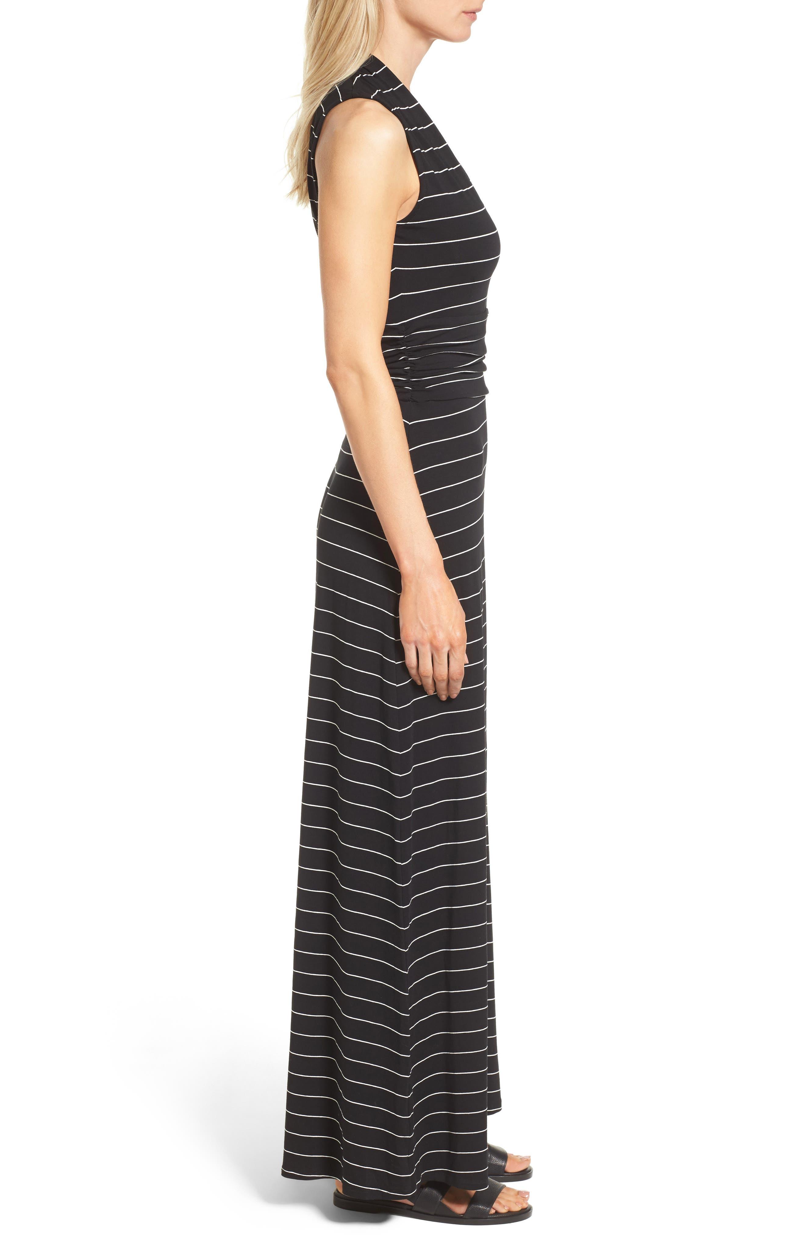 Stripe Maxi Dress,                             Alternate thumbnail 3, color,                             006