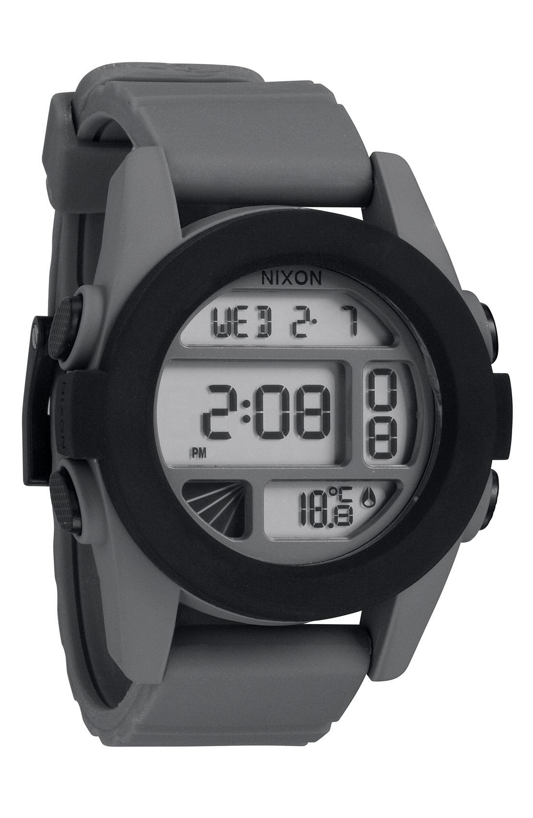 'The Unit' Round Digital Watch, 44mm,                             Main thumbnail 6, color,