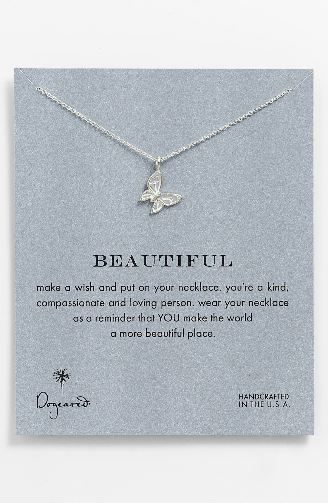 'Reminder - Beautiful' Pendant Necklace,                         Main,                         color, 040