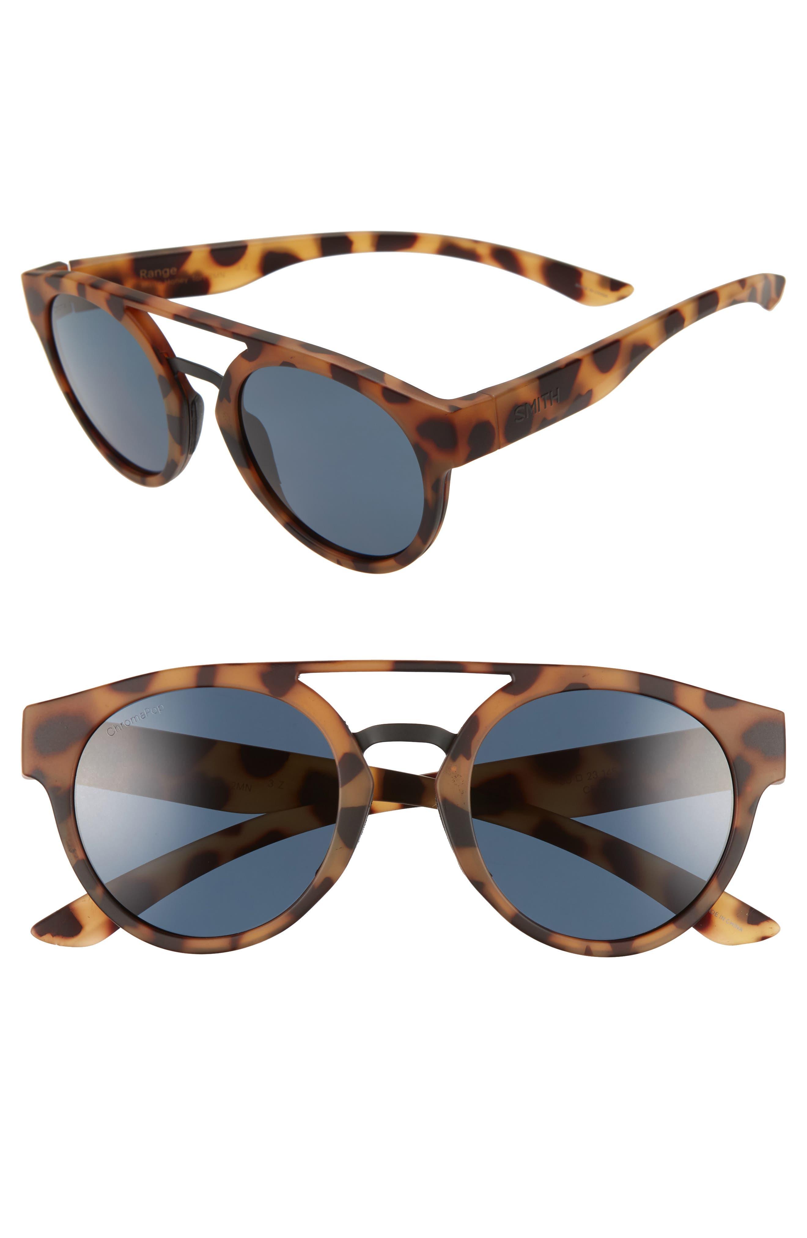 Range 50mm ChromaPop<sup>™</sup> Polarized Sunglasses,                             Main thumbnail 1, color,                             MATTE HONEY TORTOISE/ BLACK