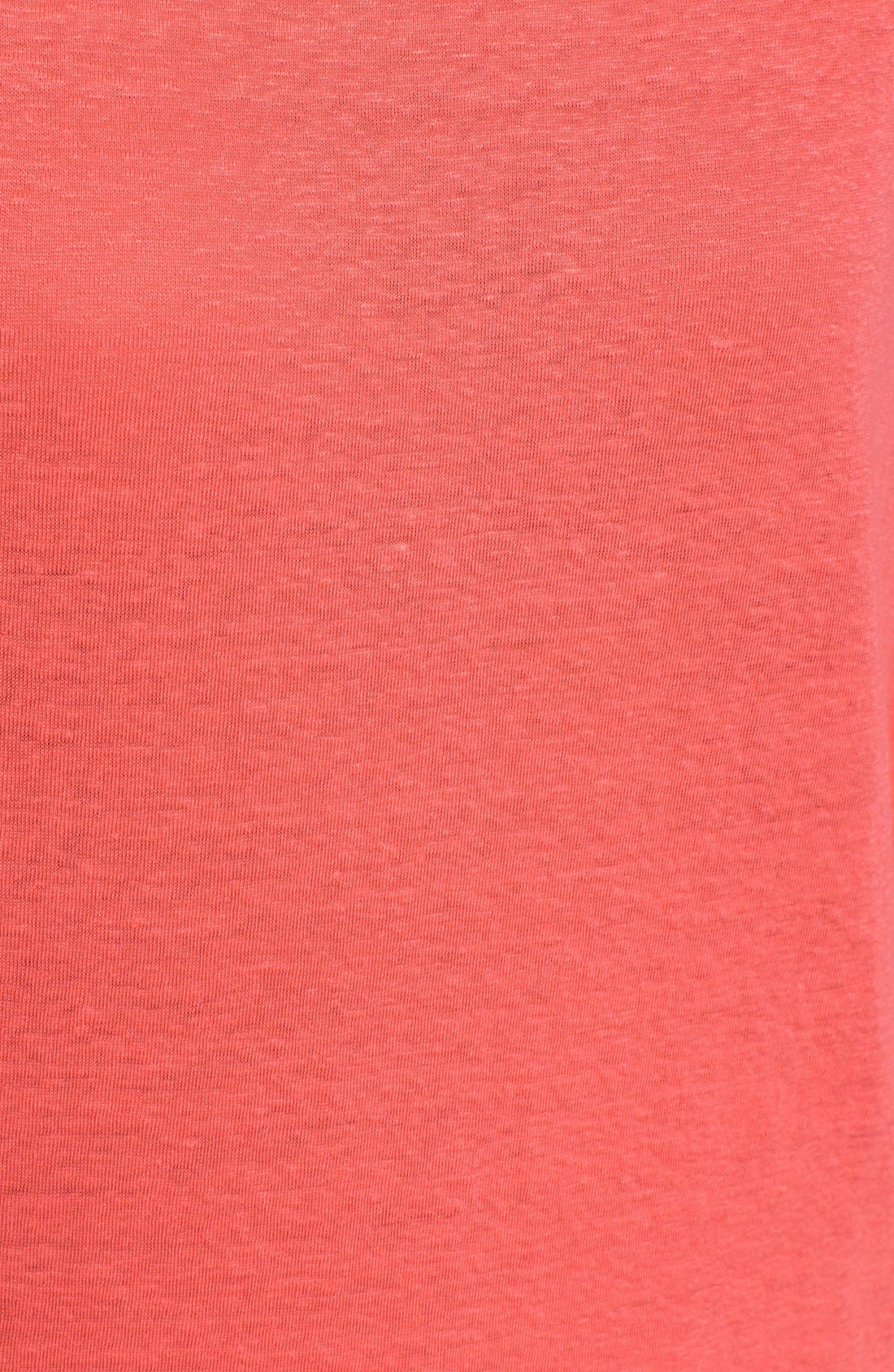 Bateau Neck Organic Linen Tunic,                             Alternate thumbnail 77, color,