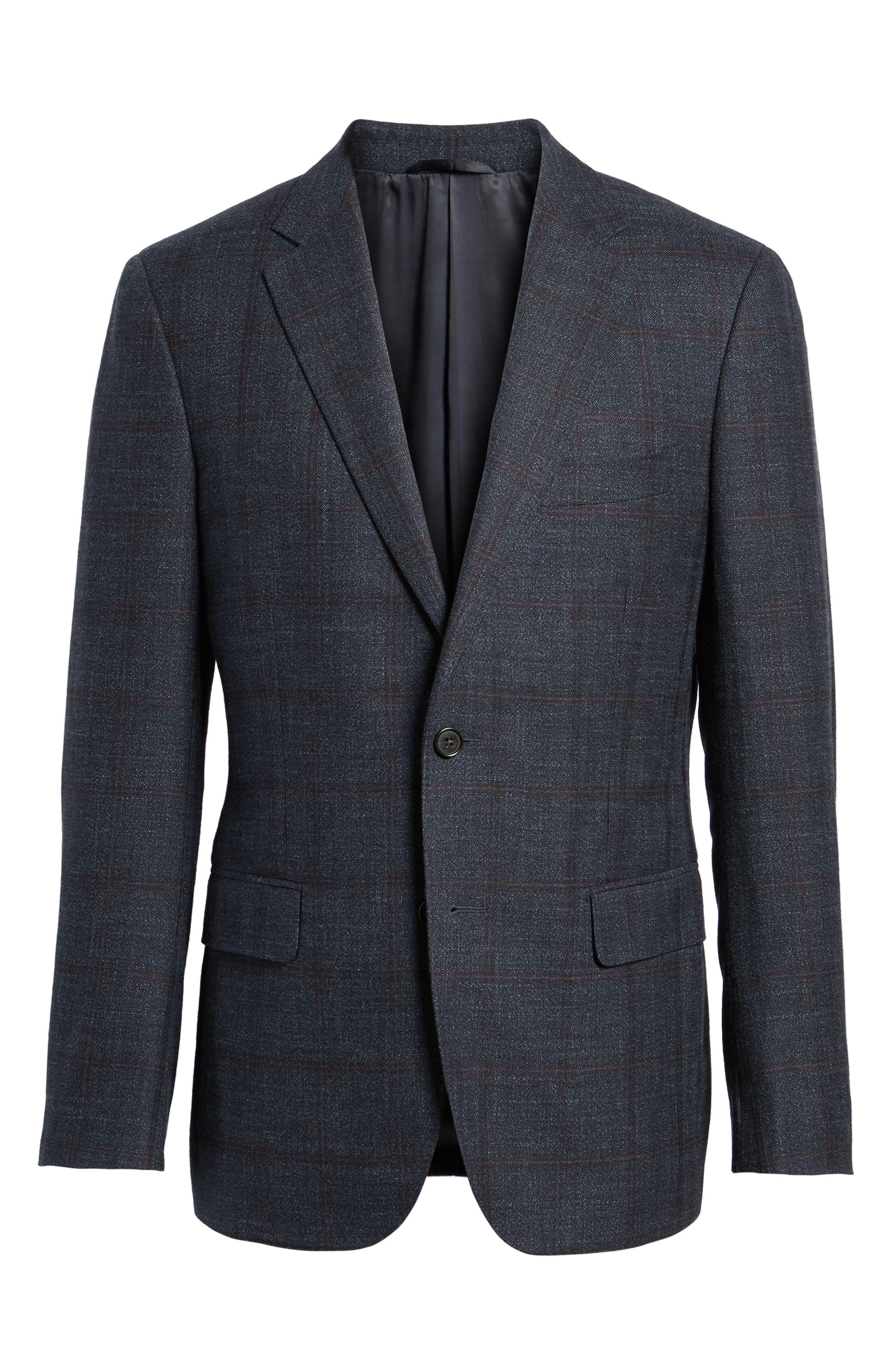 Glenside Wool Blend Sport Coat,                             Alternate thumbnail 5, color,                             411