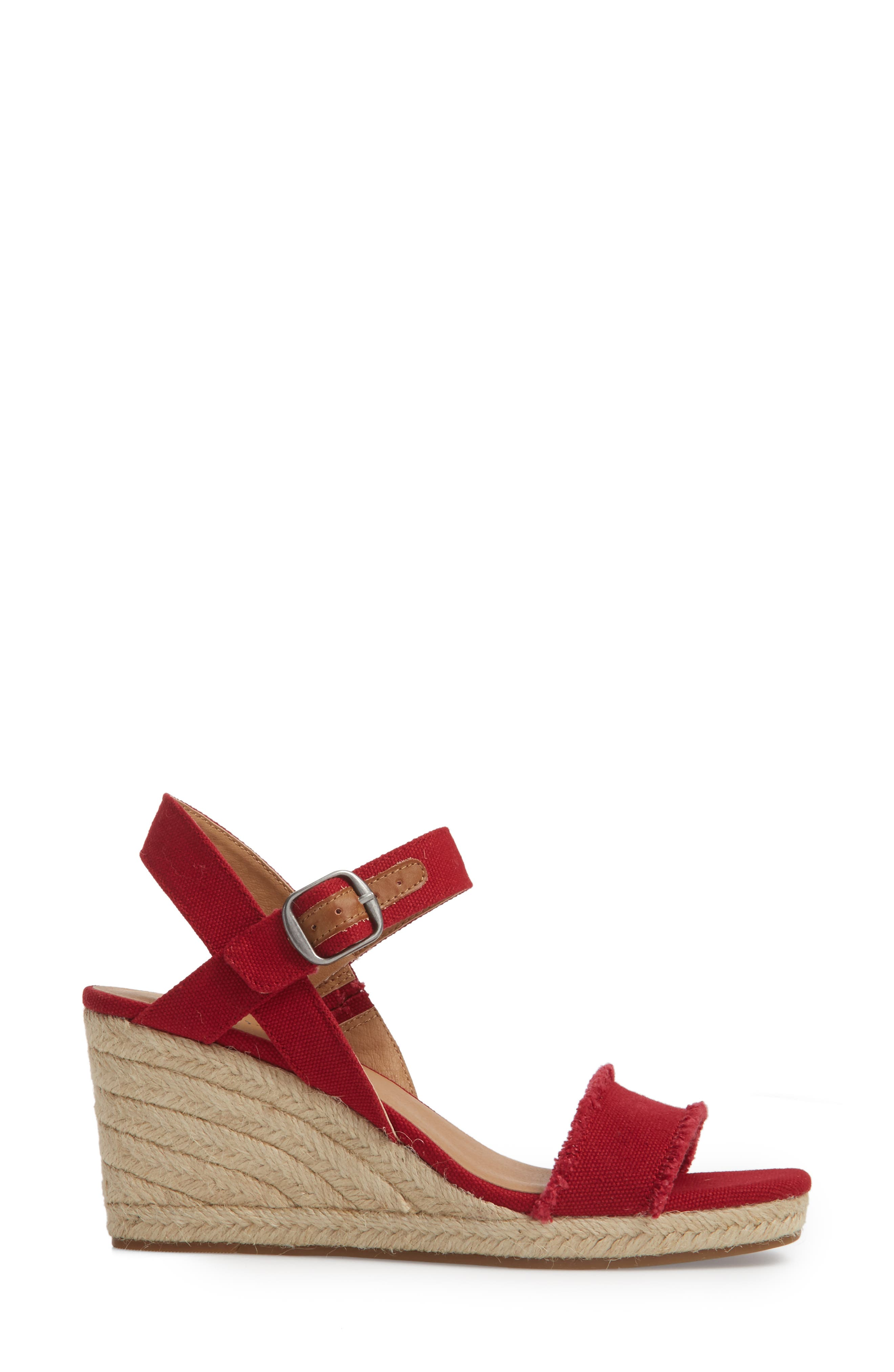 Marceline Squared Toe Wedge Sandal,                             Alternate thumbnail 21, color,