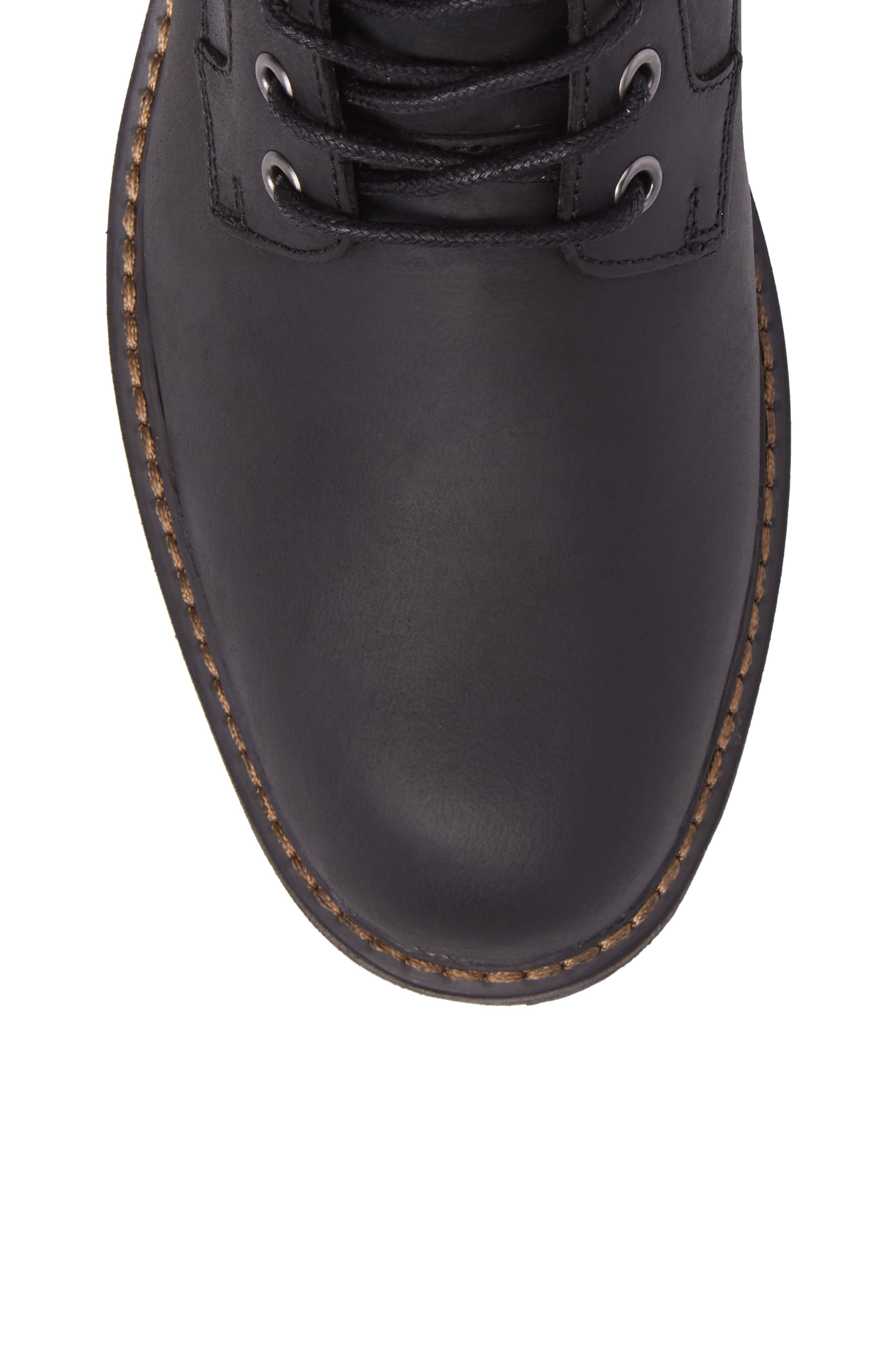 Grant Boot,                             Alternate thumbnail 5, color,                             BLACK LEATHER