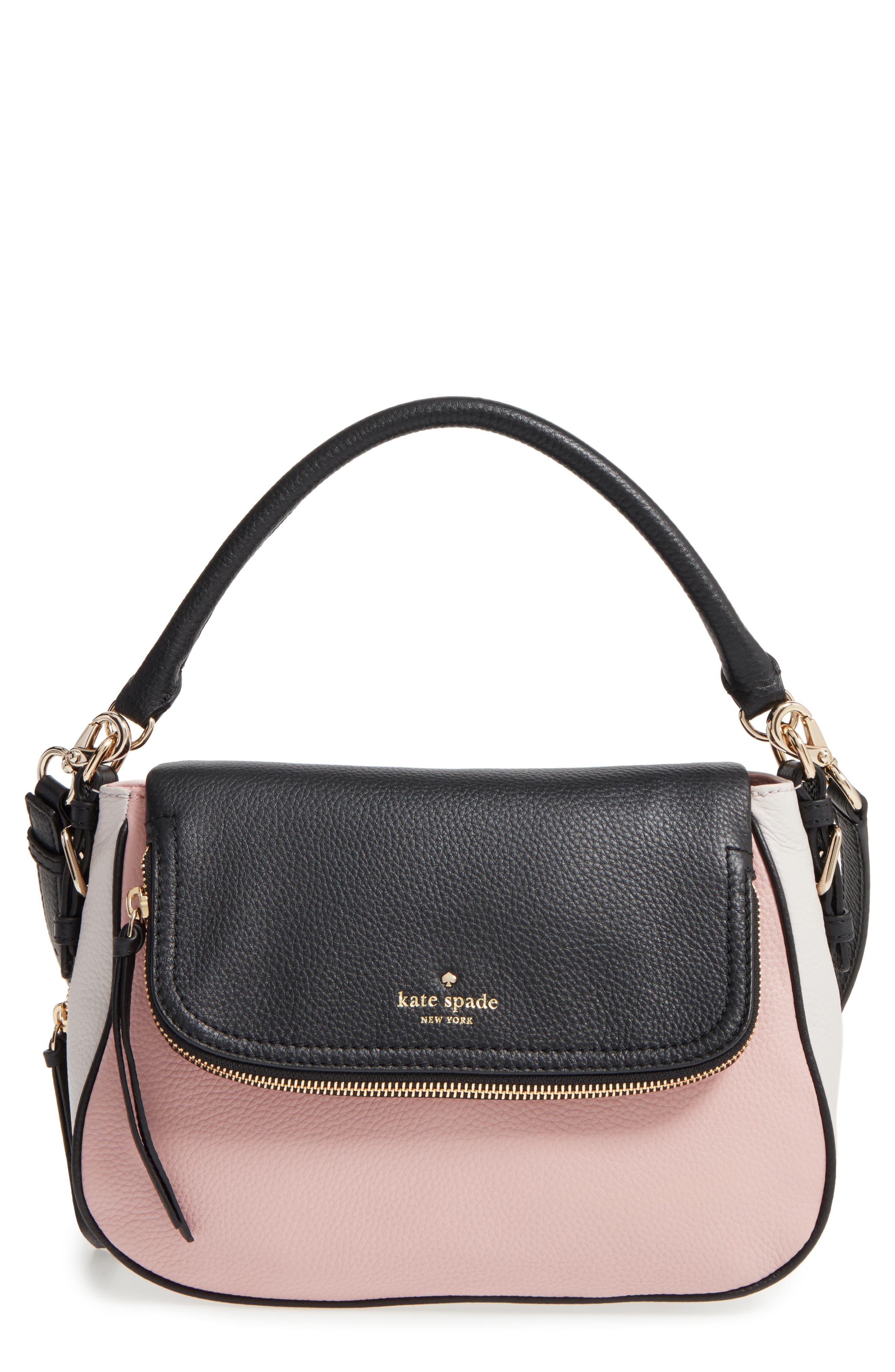 cobble hill - deva leather crossbody bag,                             Main thumbnail 7, color,