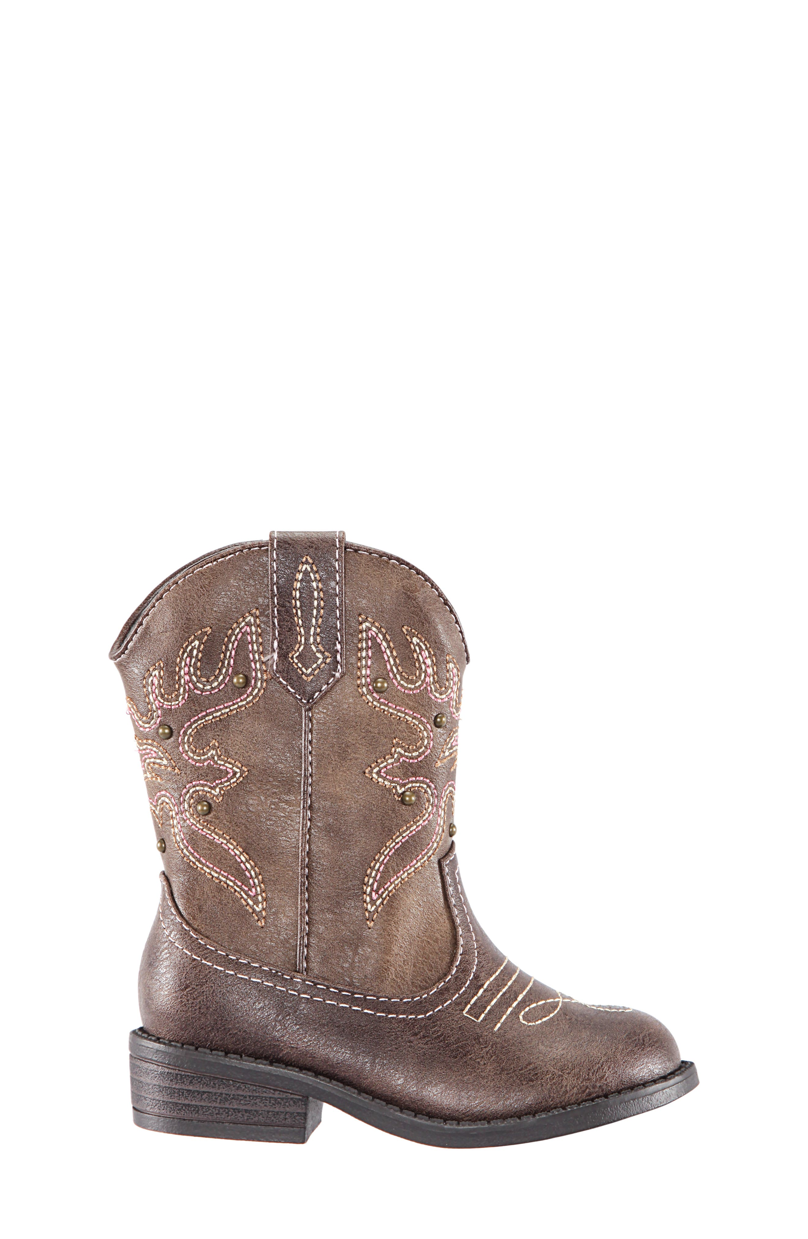 Mirabele Cowboy Boot,                             Alternate thumbnail 3, color,                             BROWN