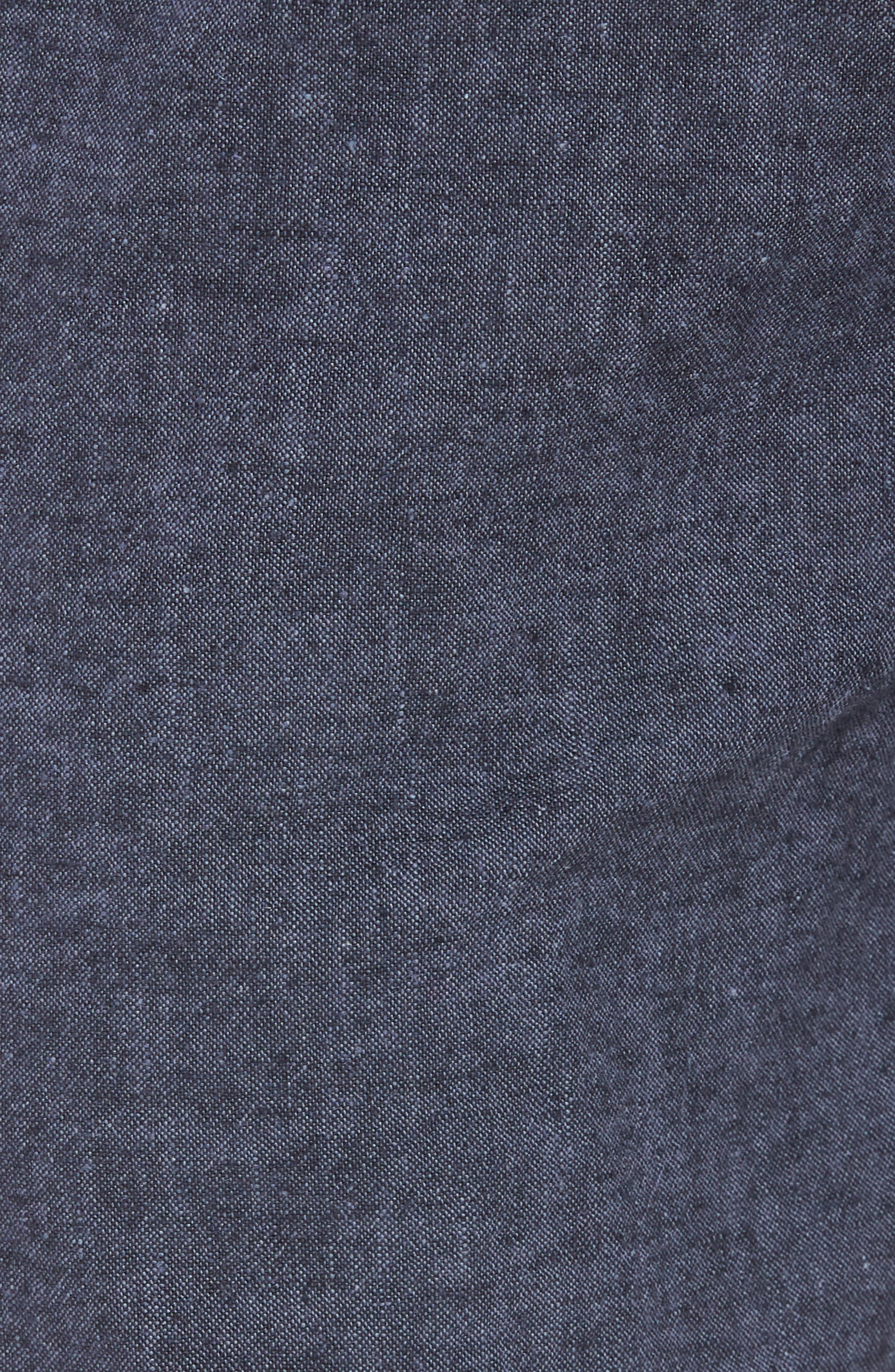 Drawstring Linen Blend Shorts,                             Alternate thumbnail 18, color,