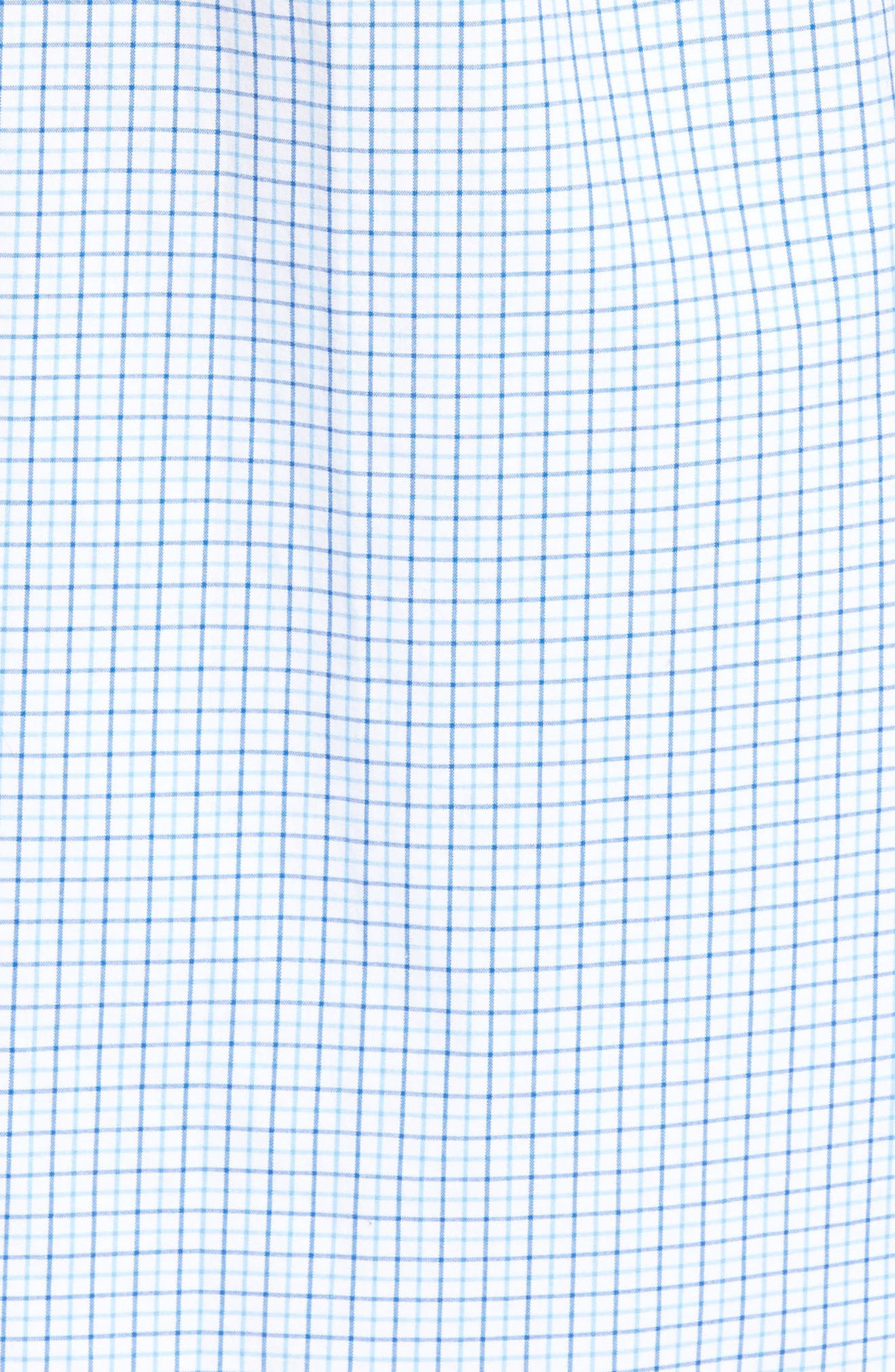 Twin Pond Classic Fit Tattersall Check Sport Shirt,                             Alternate thumbnail 5, color,                             484