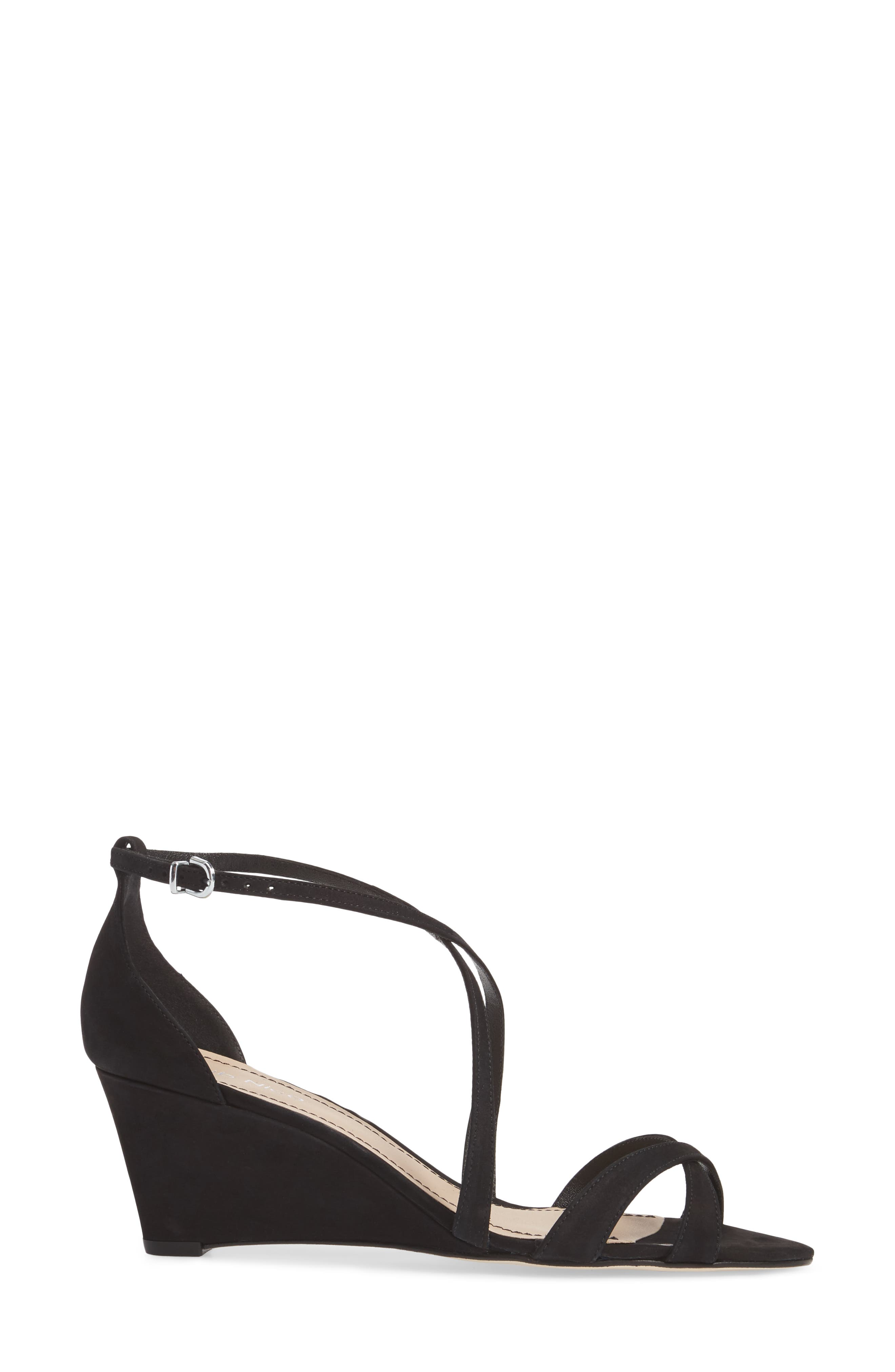 KLUB NICO,                             Kaissa Sandal,                             Alternate thumbnail 3, color,                             BLACK NUBUCK LEATHER