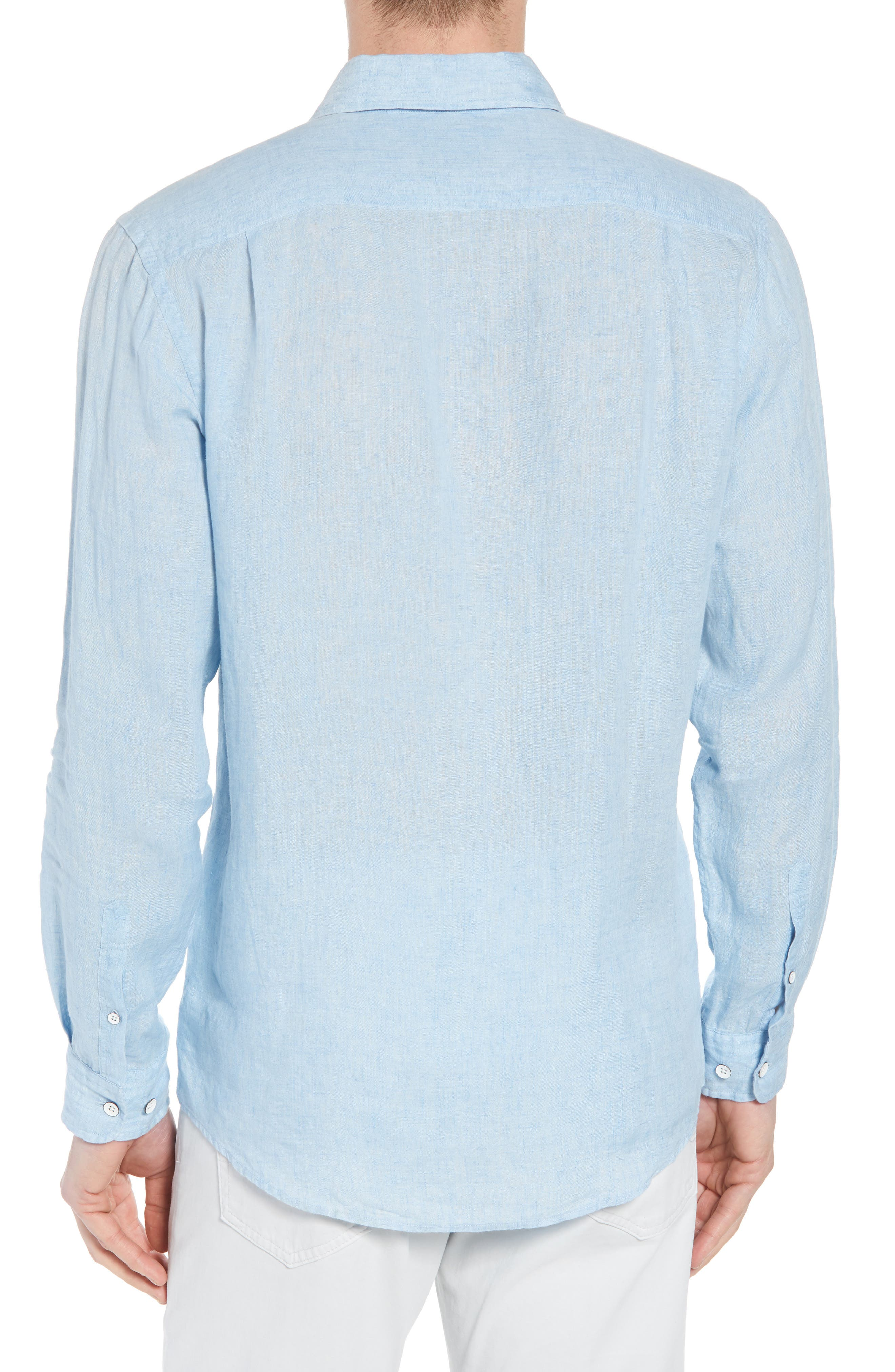 Harris Bay Regular Fit Linen Sport Shirt,                             Alternate thumbnail 2, color,                             STONEWASH