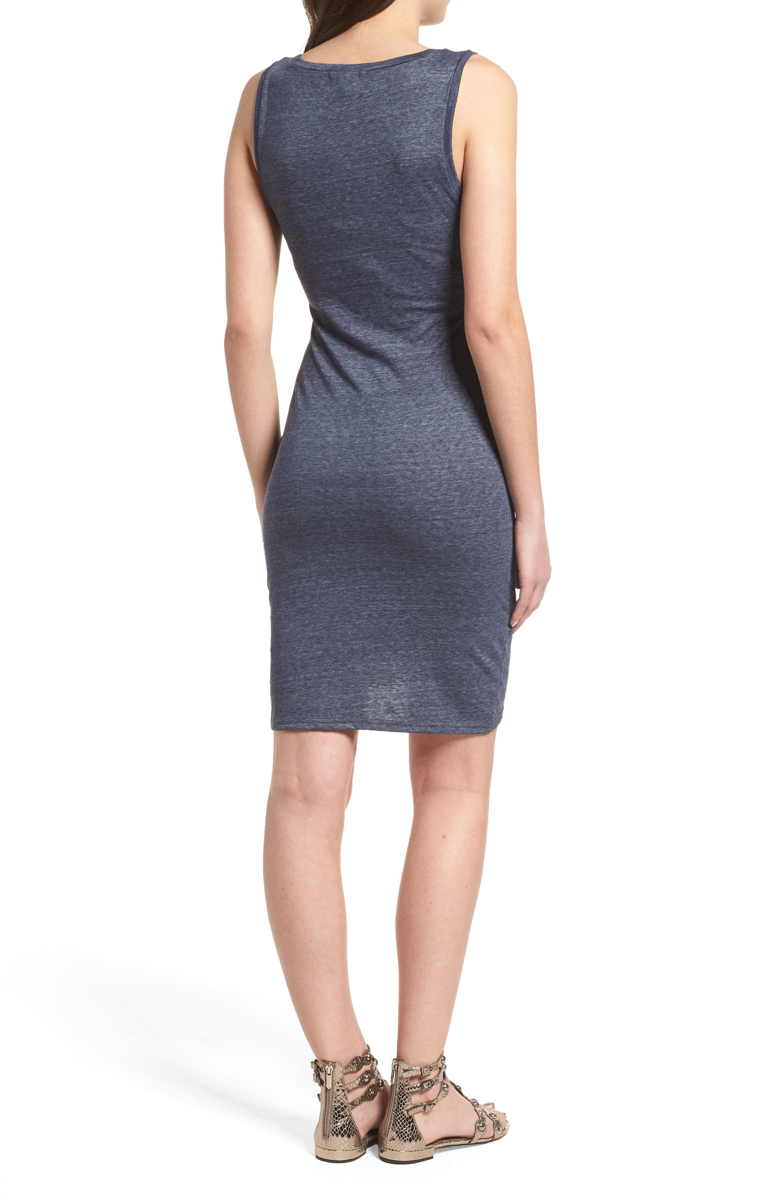 Ruched Body-Con Tank Dress,                             Alternate thumbnail 100, color,