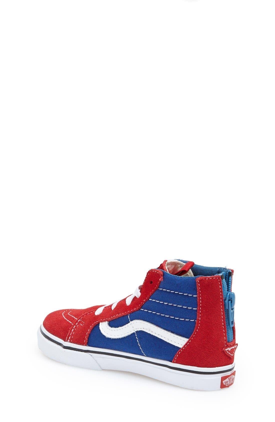 'Sk8-Hi' Zip Sneaker,                             Alternate thumbnail 17, color,