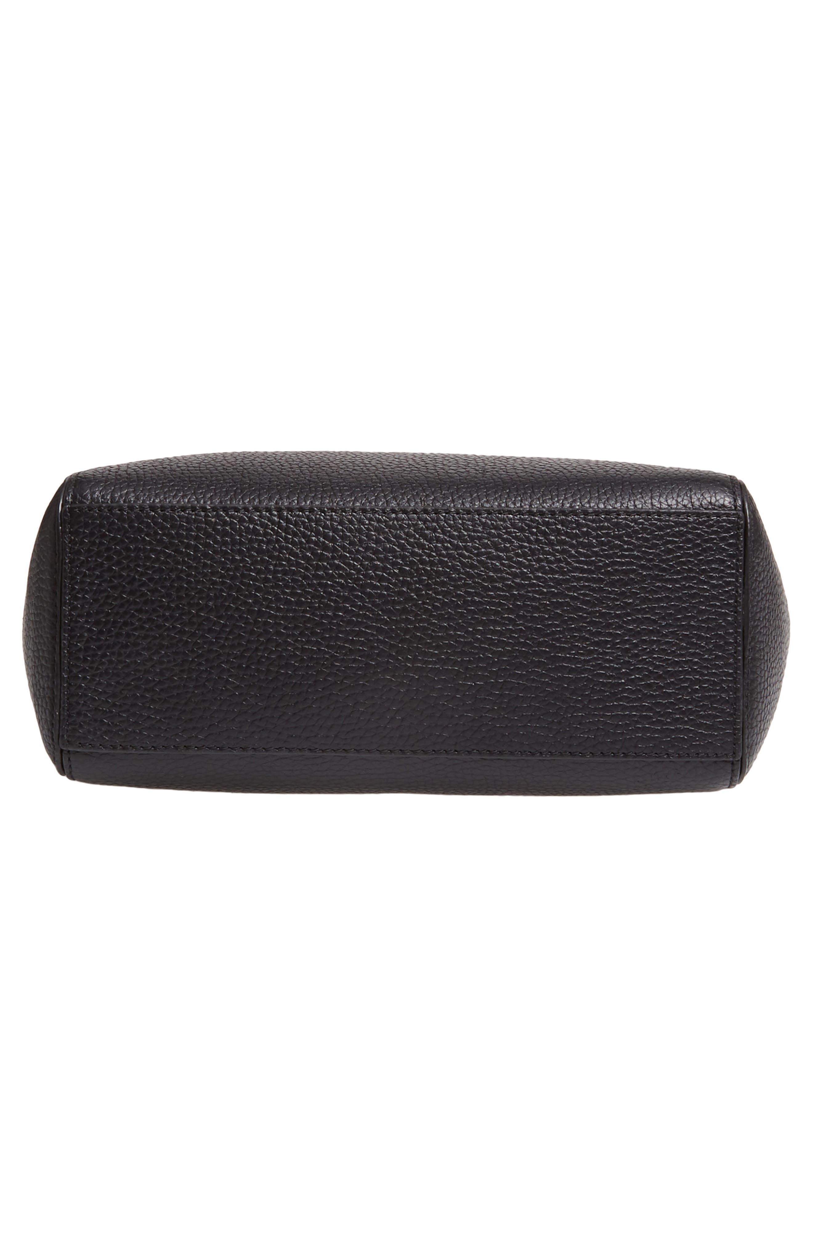 TREASURE & BOND,                             Campbell Leather & Suede Bucket Bag,                             Alternate thumbnail 6, color,                             BLACK