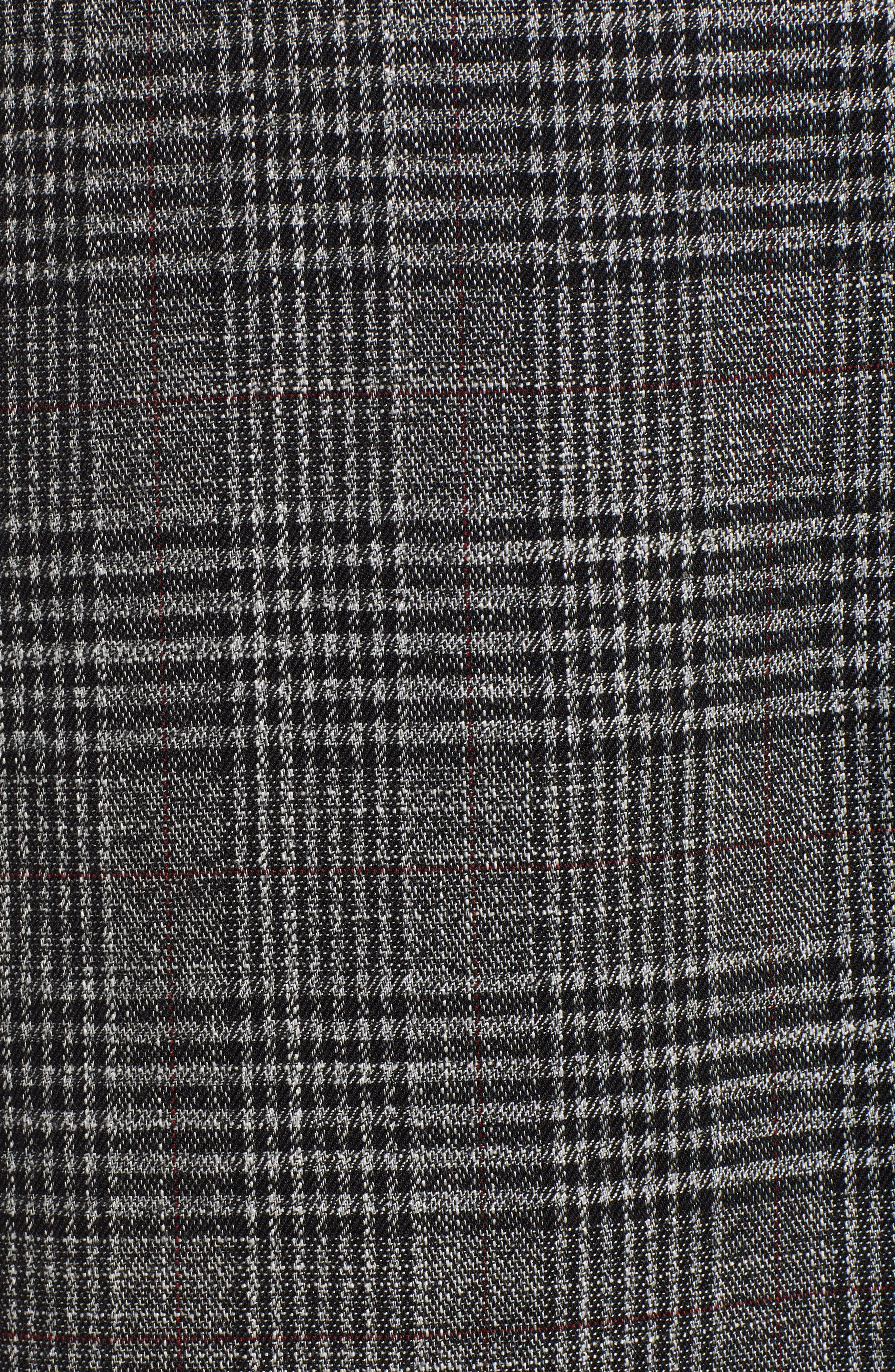 SOMETHING NAVY,                             Plaid Topper Coat,                             Alternate thumbnail 7, color,                             001