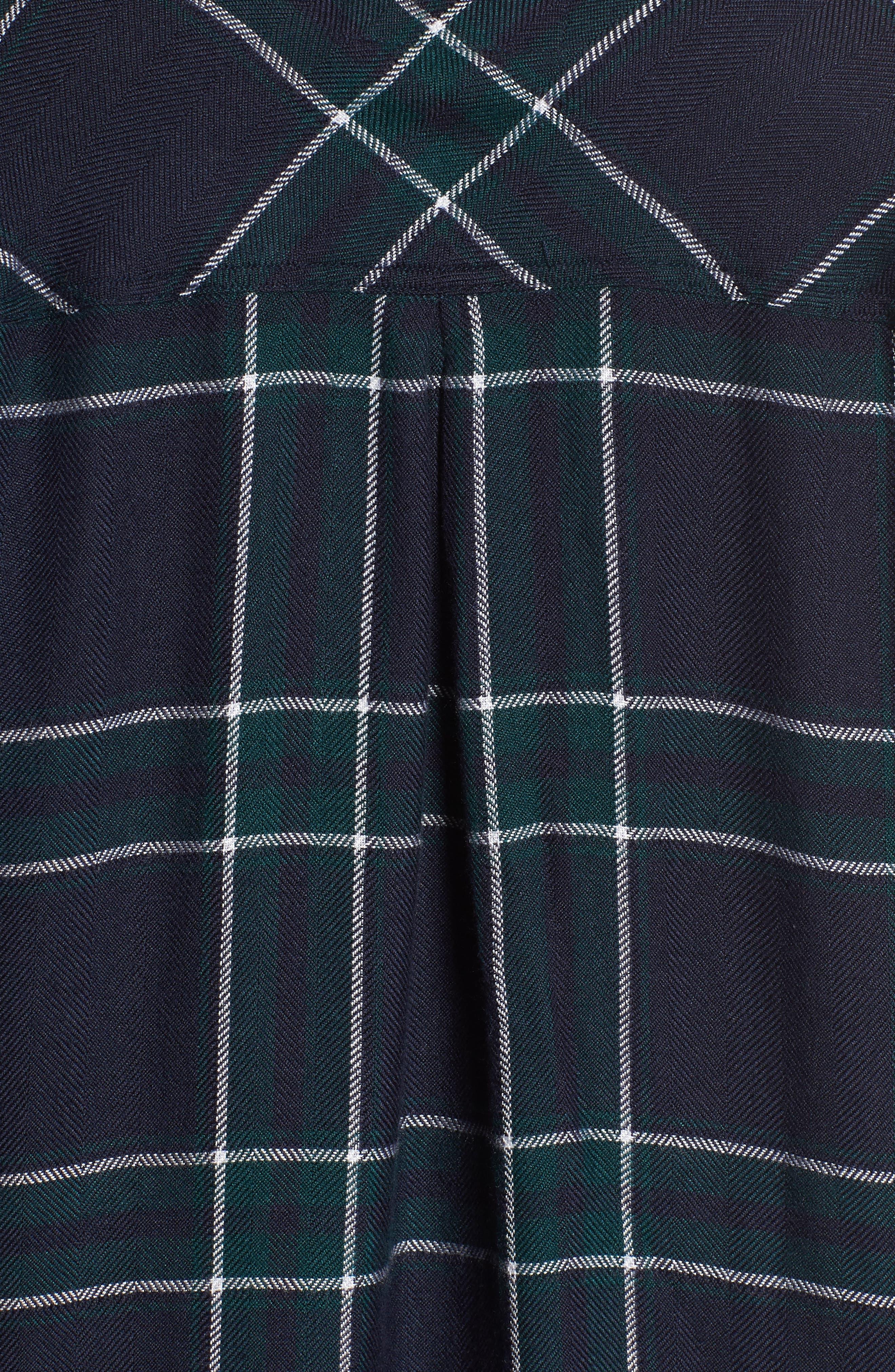 Hunter Plaid Shirt,                             Alternate thumbnail 6, color,                             MIDNIGHT FOREST WHITE