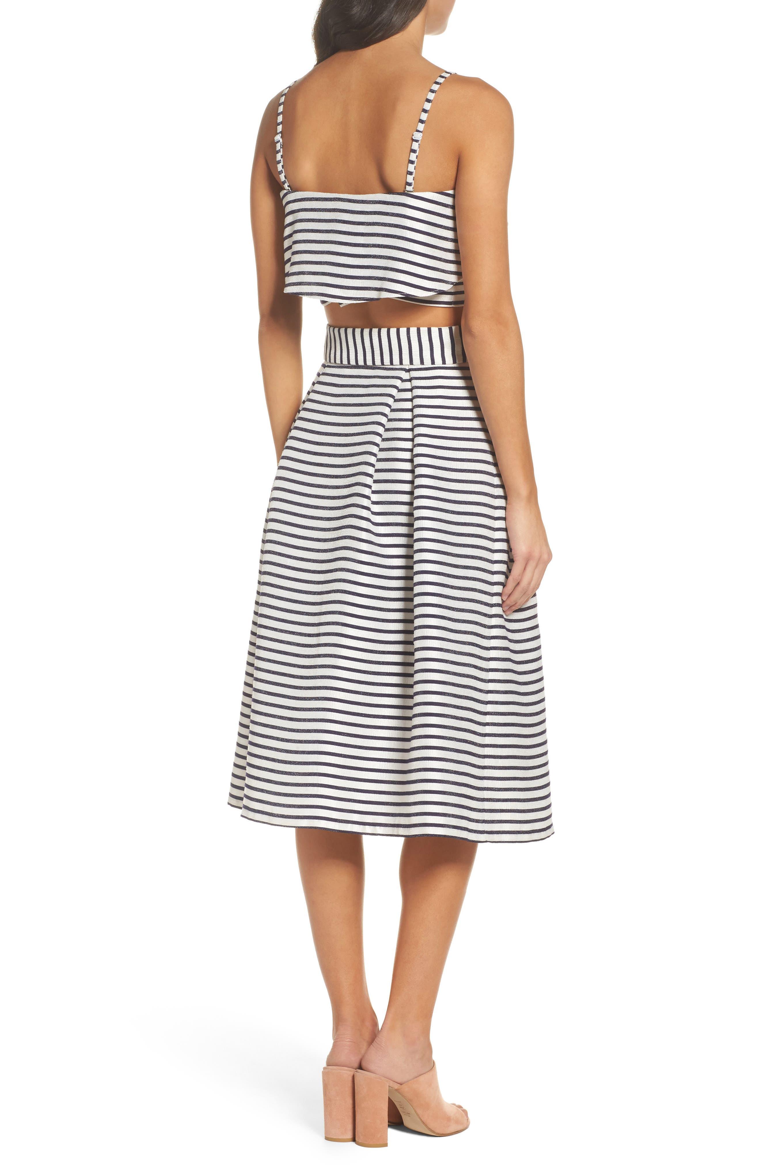 BB Dakota Grace Stripe Two-Piece Dress,                             Alternate thumbnail 2, color,                             900