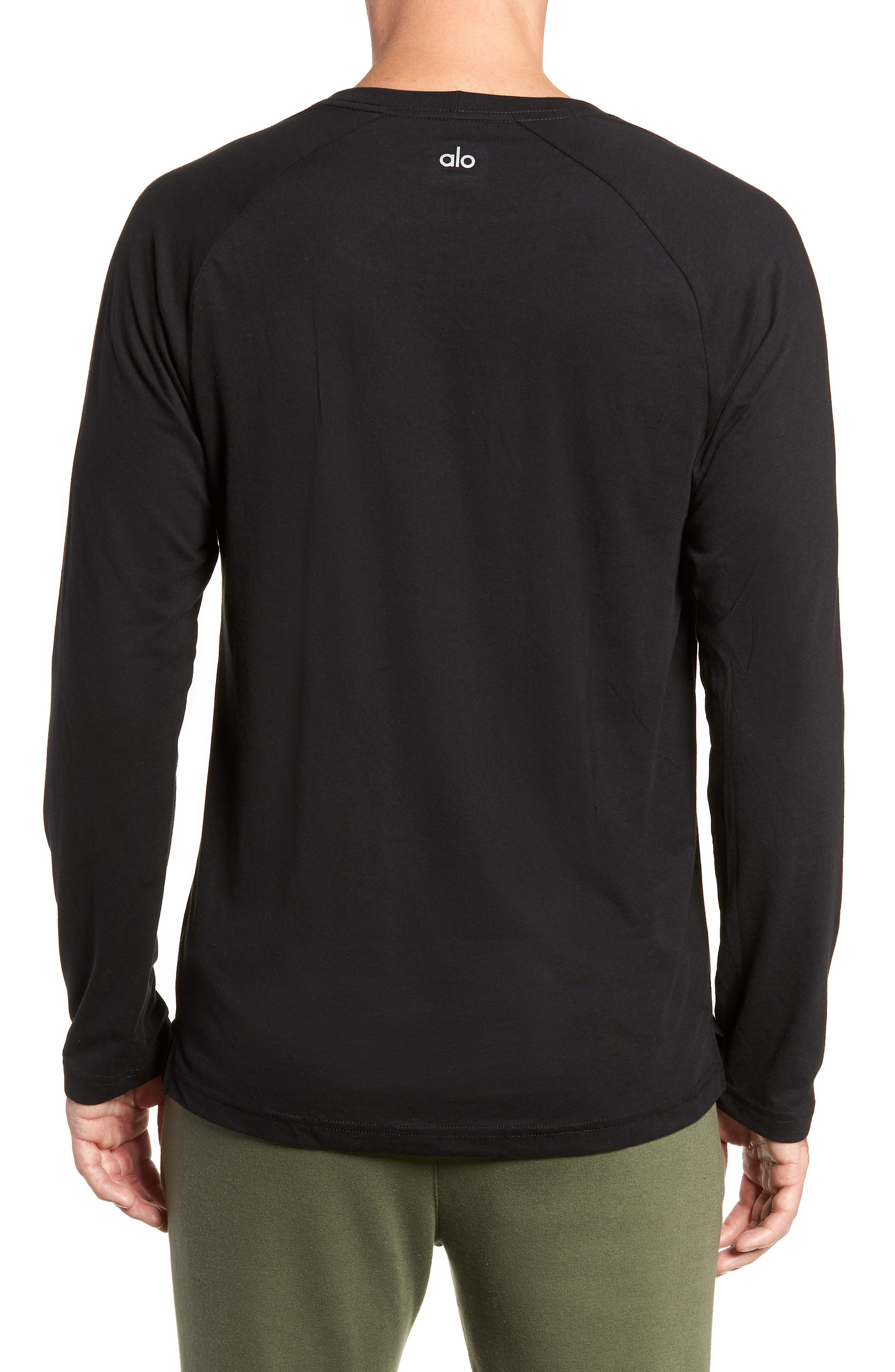 Triumph Raglan Long Sleeve T-Shirt,                             Alternate thumbnail 2, color,                             SOLID BLACK TRIBLEND