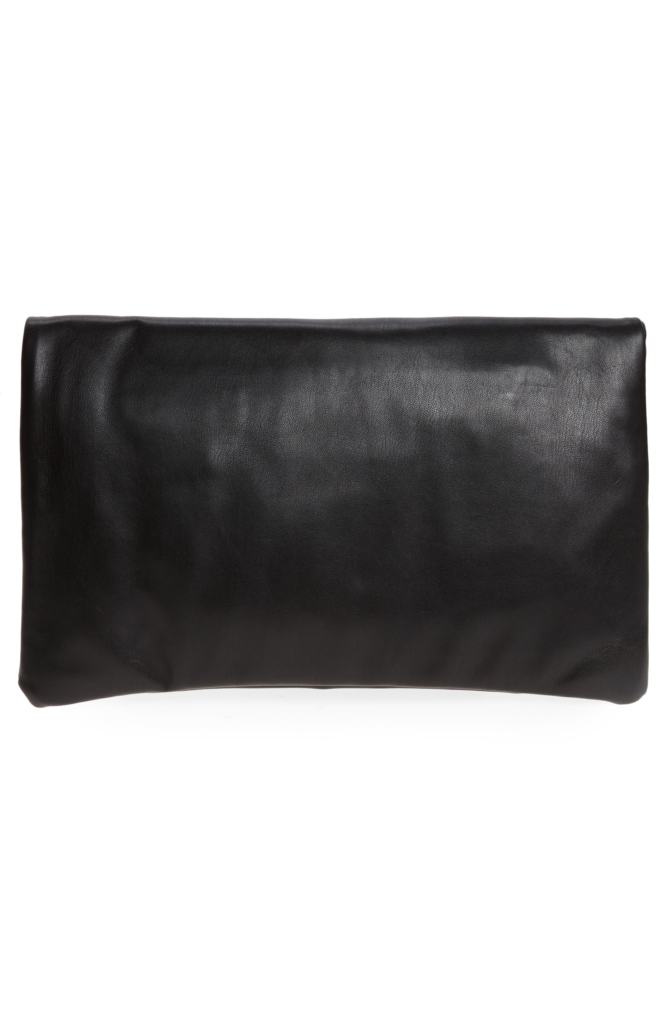 Melrose Faux Leather Clutch,                             Alternate thumbnail 7, color,