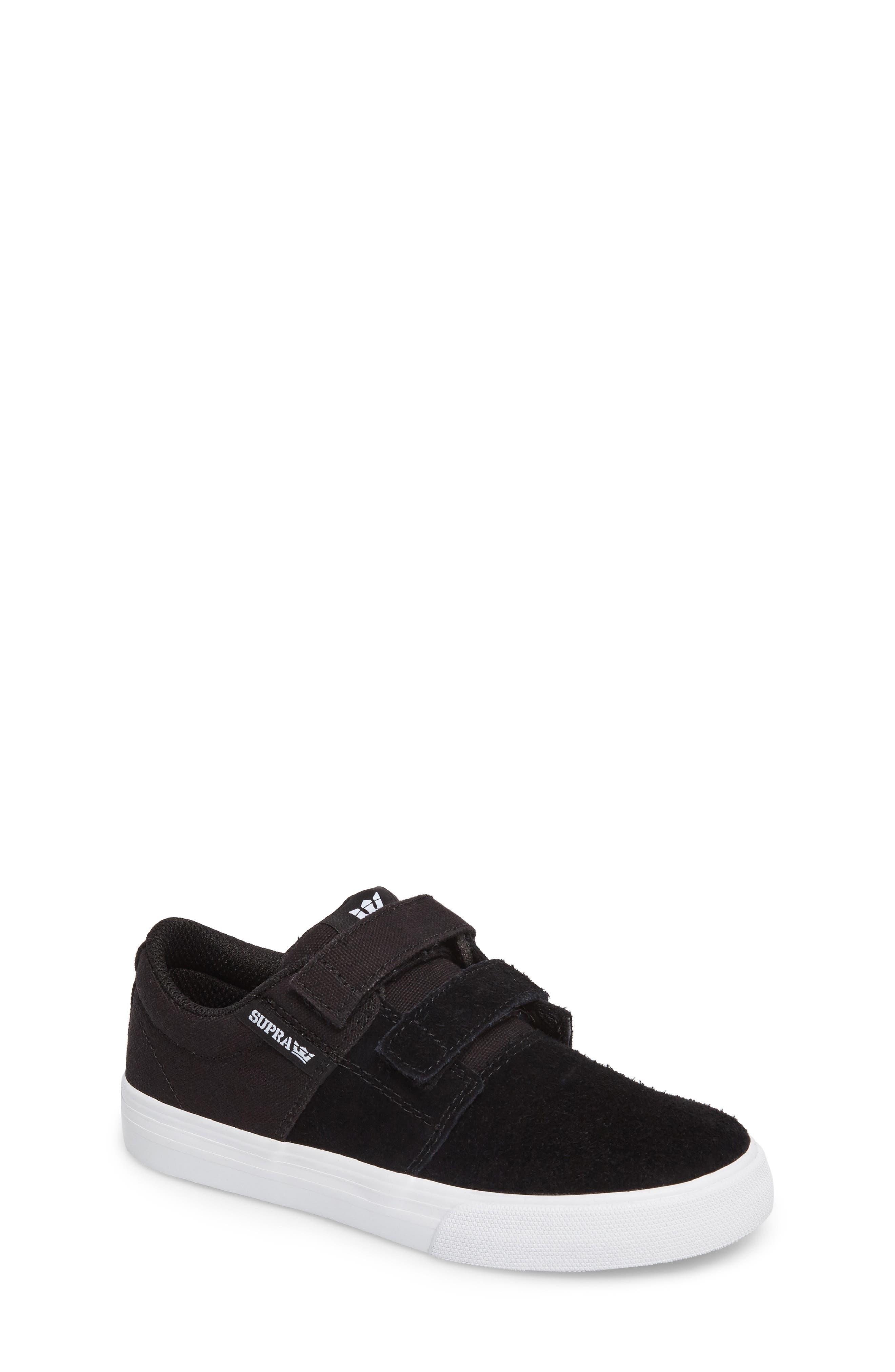 Stacks Low Top Sneaker,                             Main thumbnail 1, color,                             BLACK - WHITE