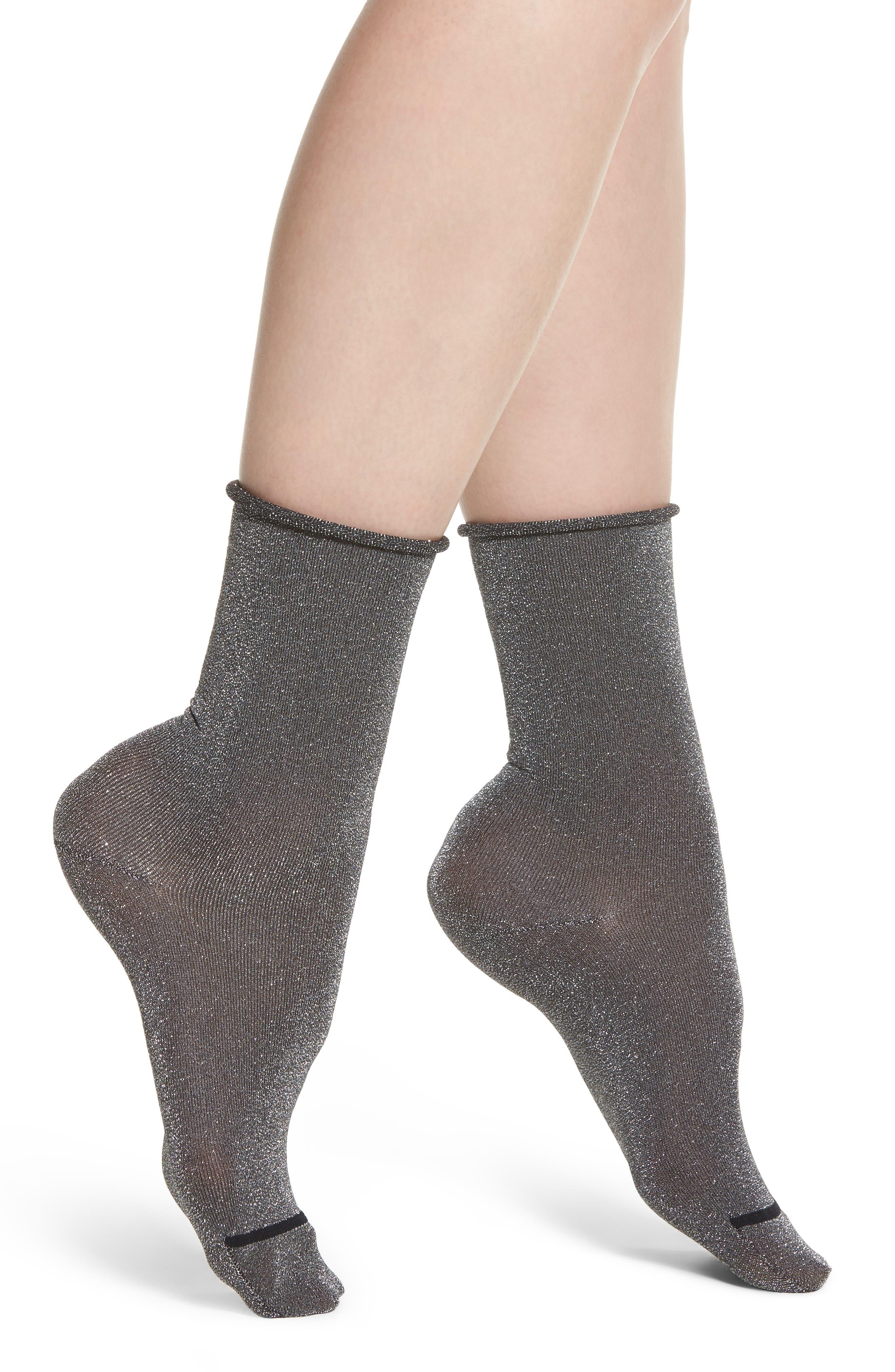 Roll Top Crew Socks,                         Main,                         color,