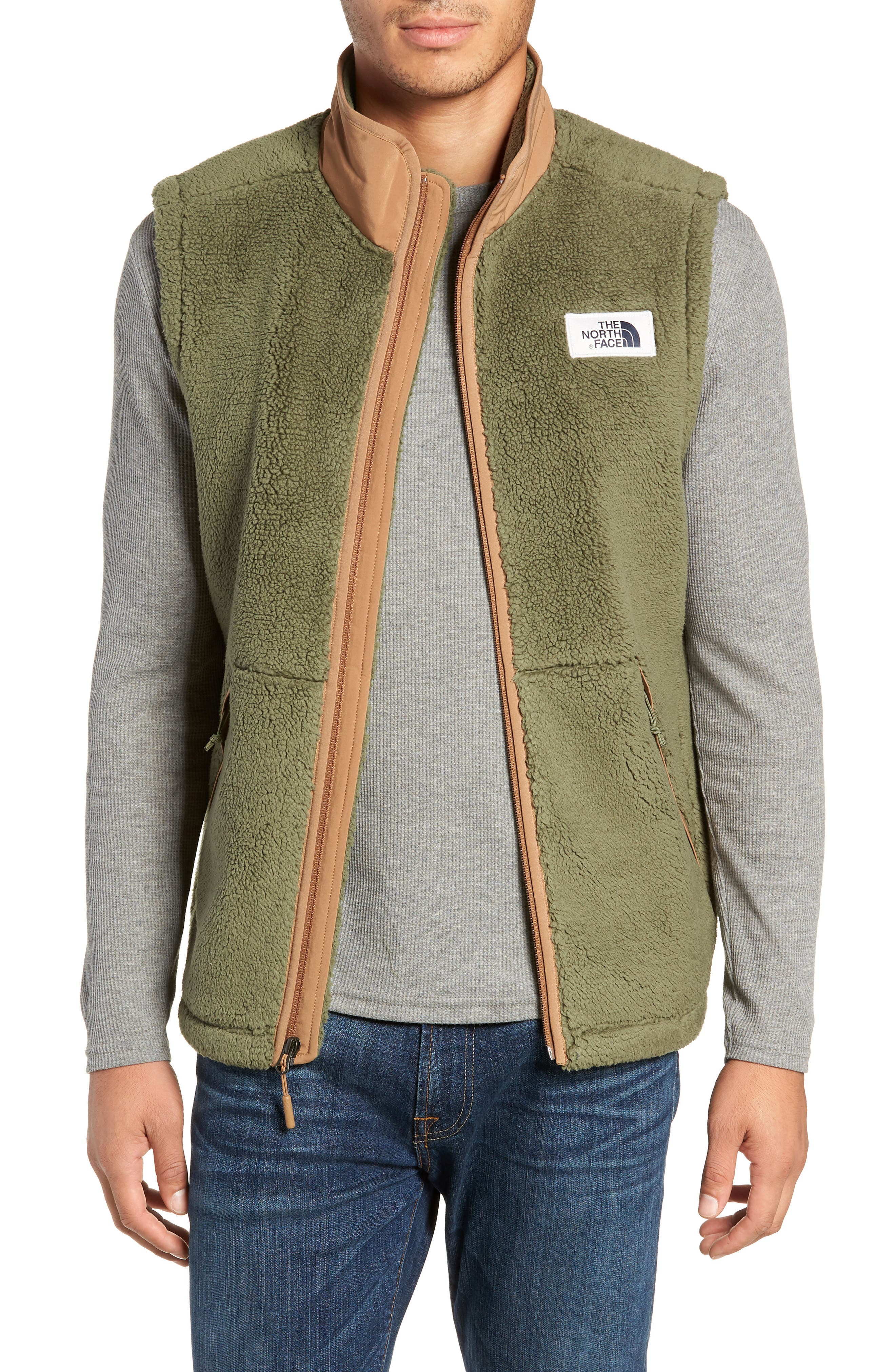 The North Face Campshire Fleece Vest, Green