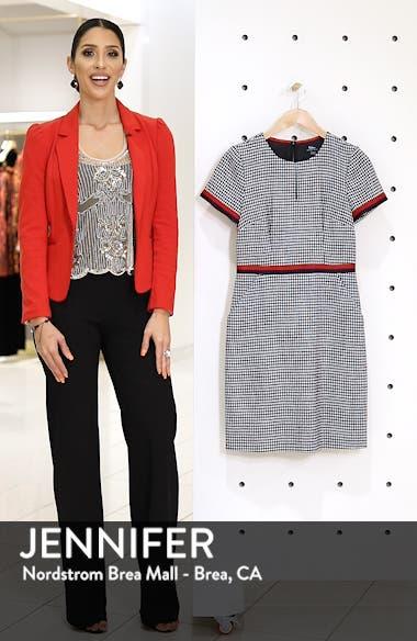 Ribbon Trim Wool Tweed Dress, sales video thumbnail