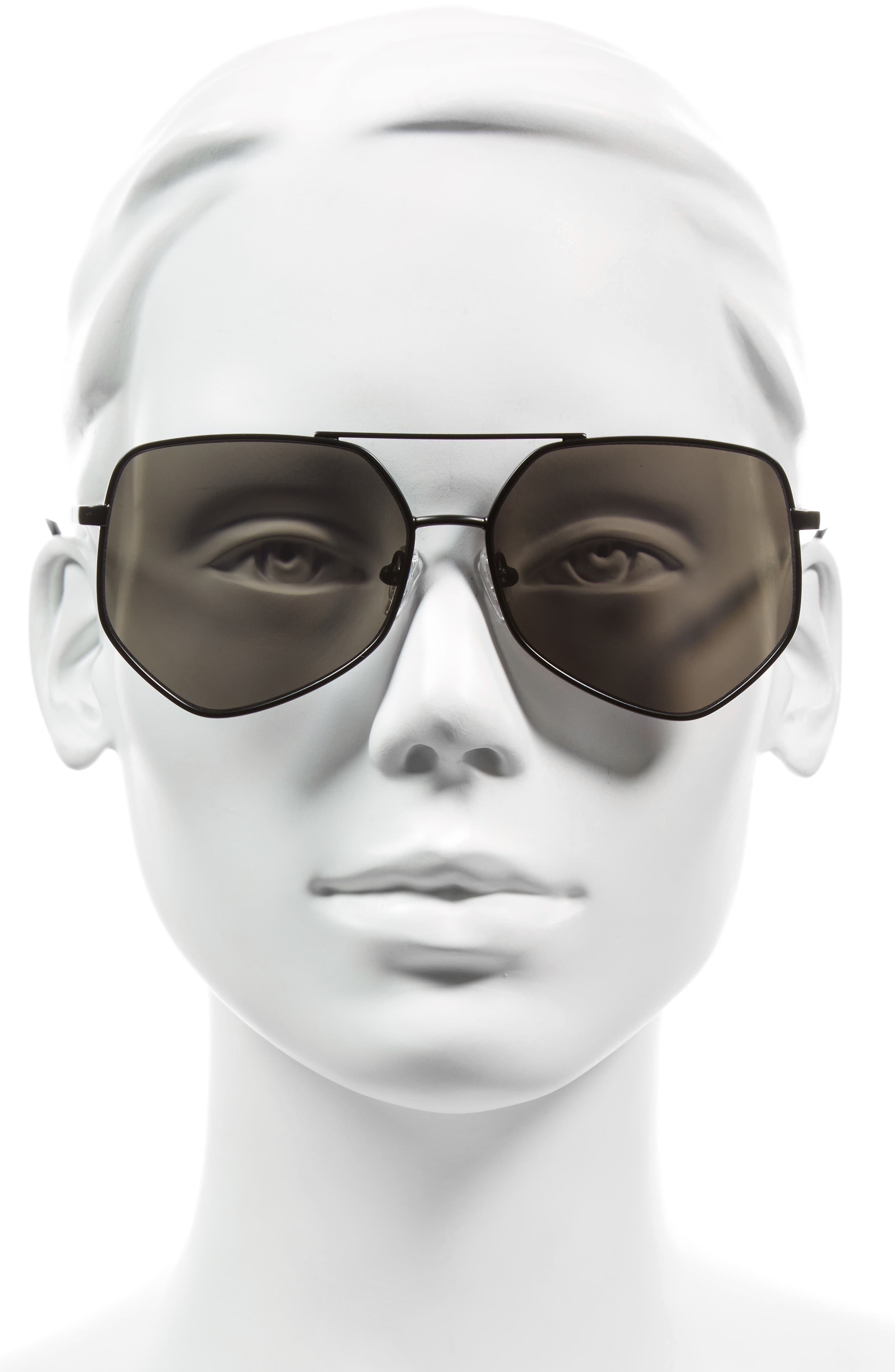 Figueroa 58mm Sunglasses,                             Alternate thumbnail 2, color,                             GRAVITY BLACK