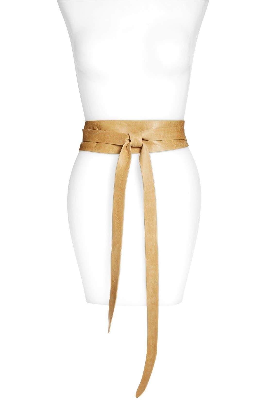 ADA,                             'Obi' Leather Wrap Belt,                             Alternate thumbnail 2, color,                             200