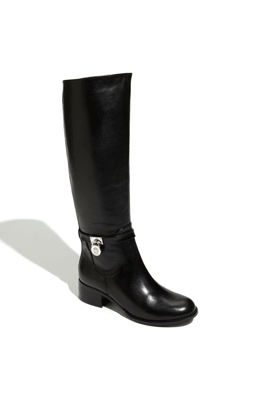 MICHAEL MICHAEL KORS 'Hamilton' Riding Boot, Main, color, 001