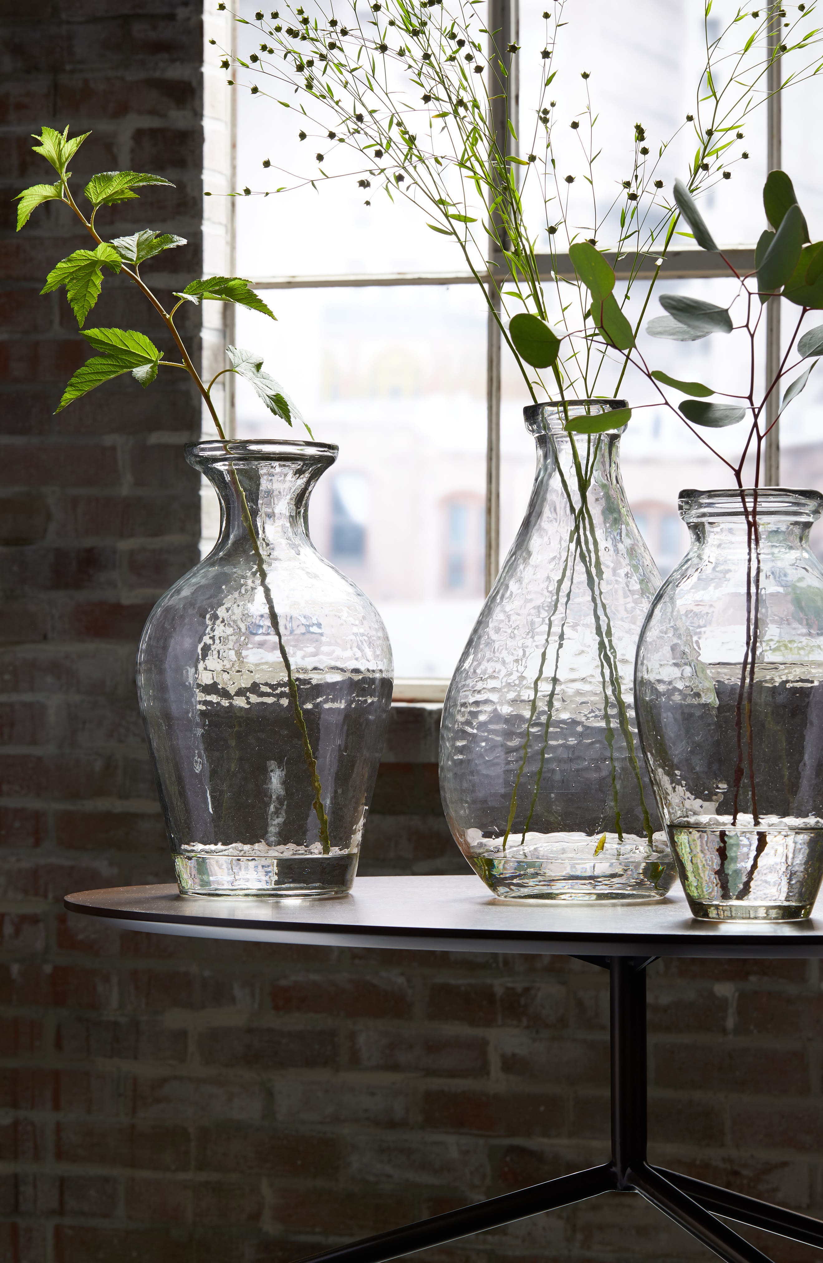 Glass Vase,                             Alternate thumbnail 2, color,                             CLEAR