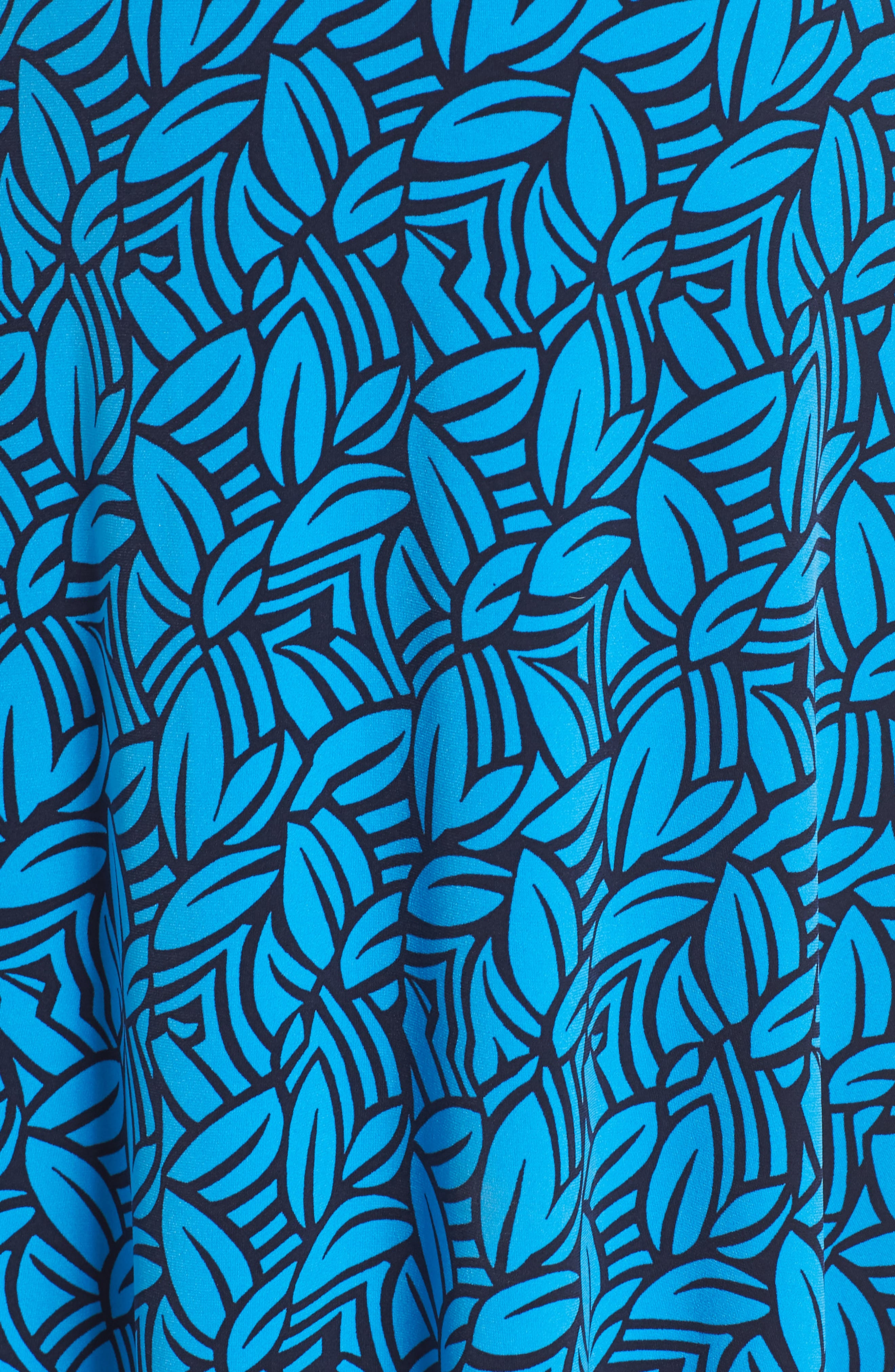 Faux Wrap Jersey Dress,                             Alternate thumbnail 6, color,                             FORGE BLITHE