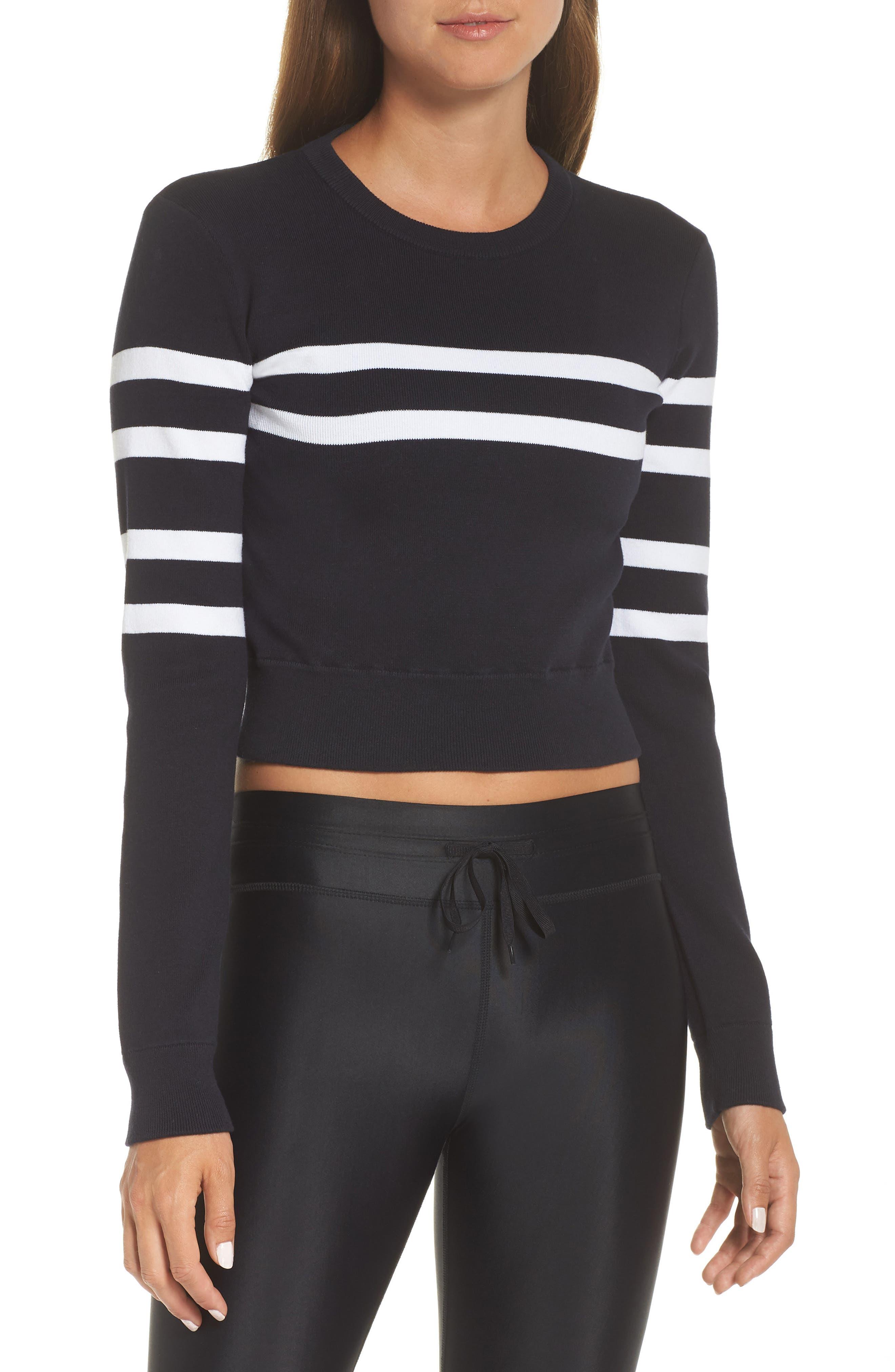 Nala Crop Sweater,                             Main thumbnail 1, color,                             INDIGO