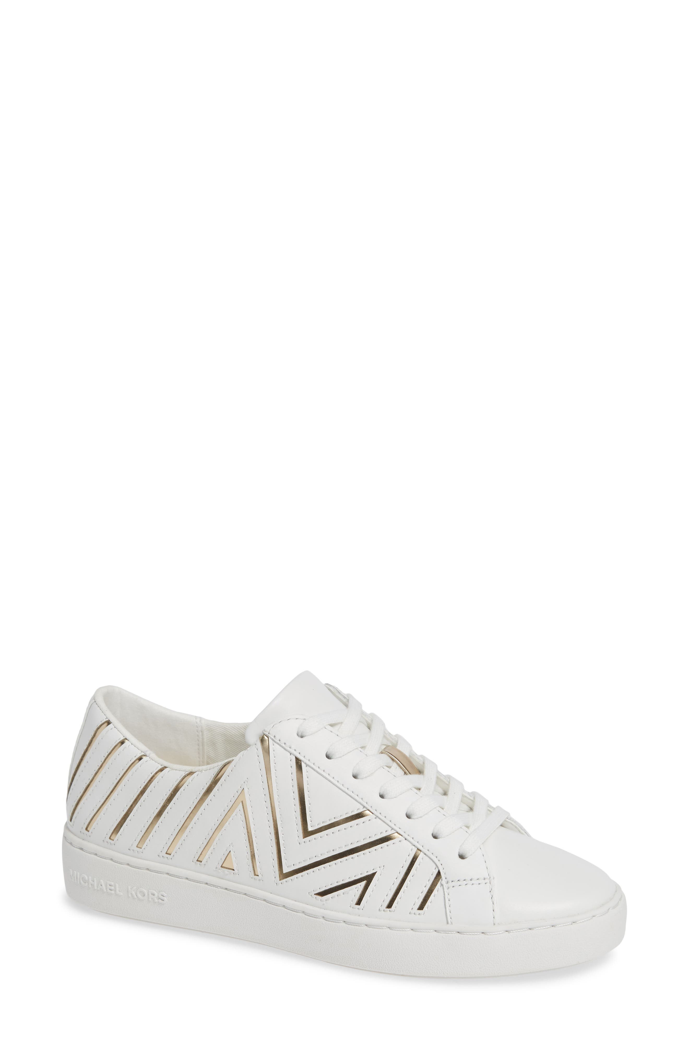 MICHAEL MICHAEL KORS Whitney Sneaker, Main, color, 100