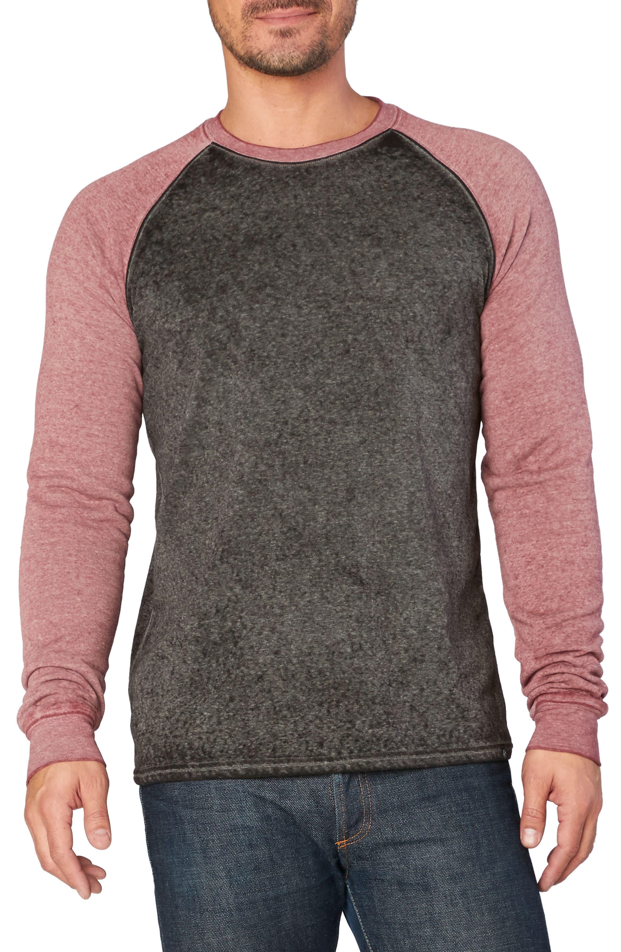 Washed Raglan Sleeve Sweatshirt,                             Main thumbnail 2, color,