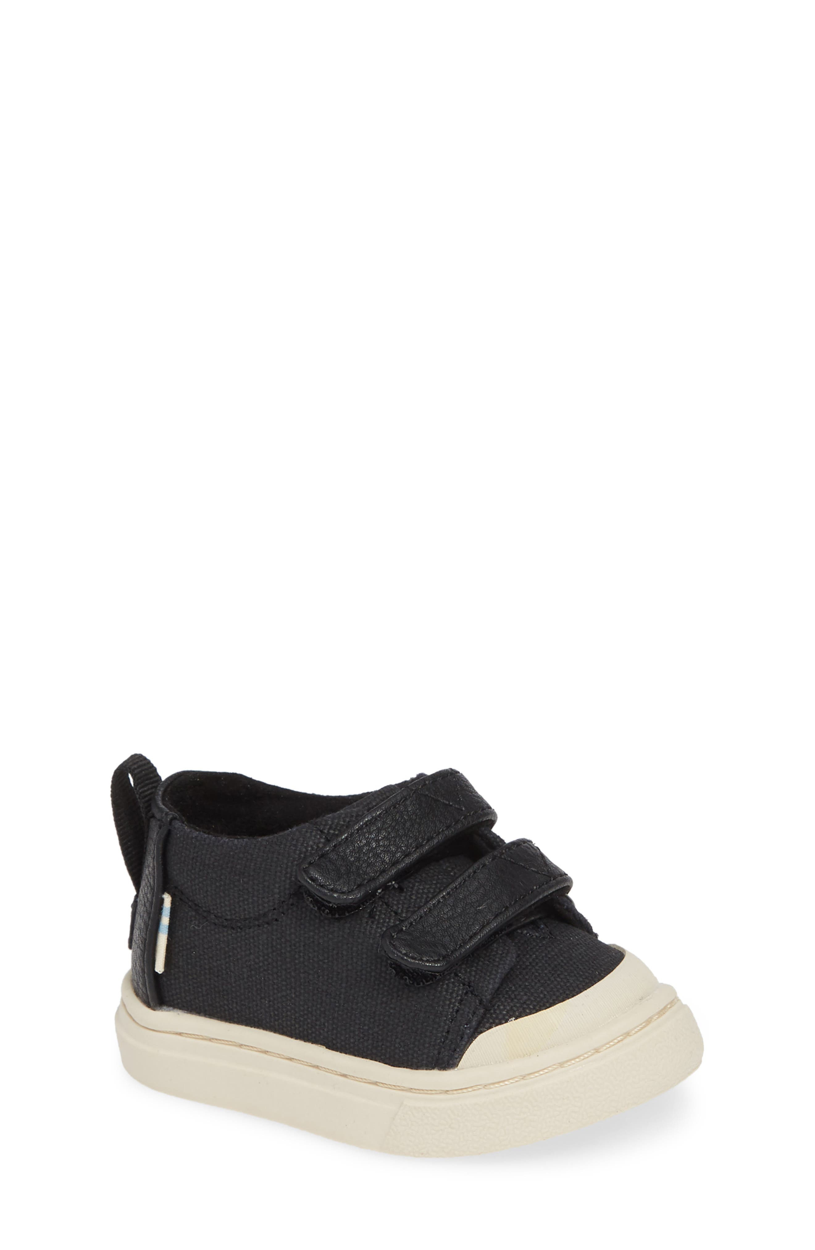 Lenny Mid Top Sneaker,                             Main thumbnail 1, color,                             BLACK TEXTURAL CANVAS