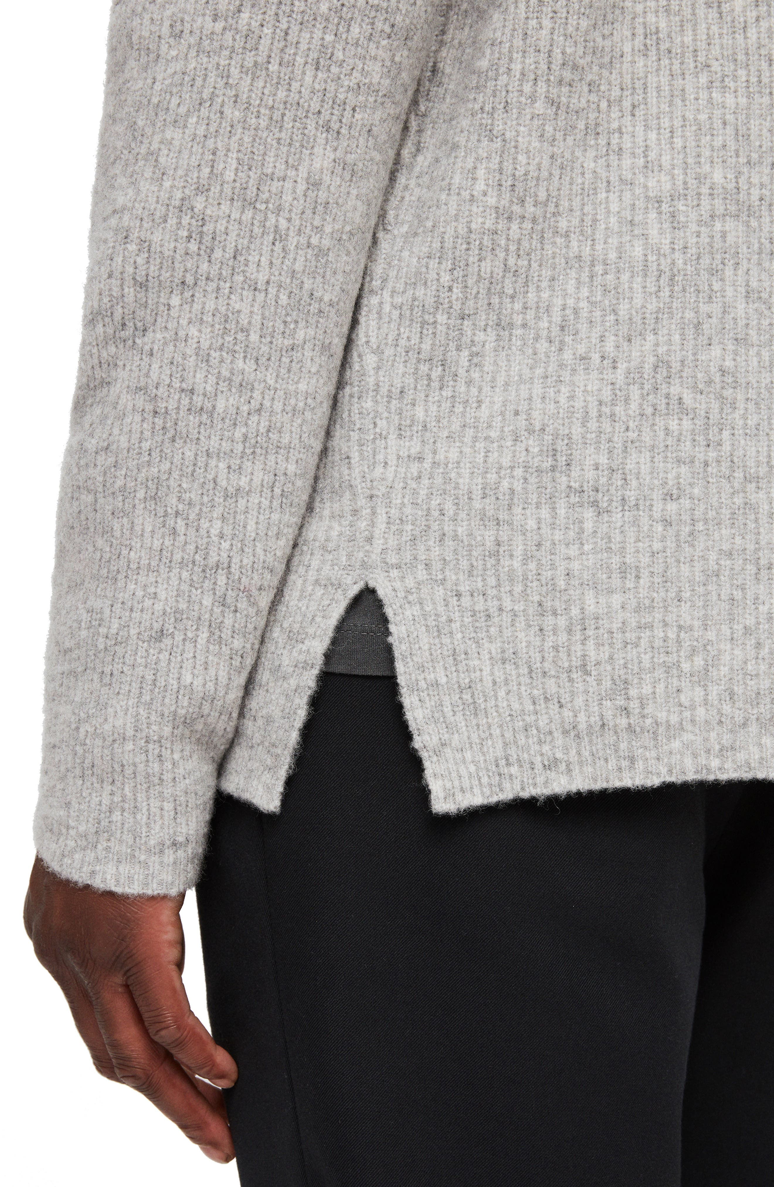 Path Wool Blend Sweater,                             Alternate thumbnail 4, color,                             LIGHT GREY MARL
