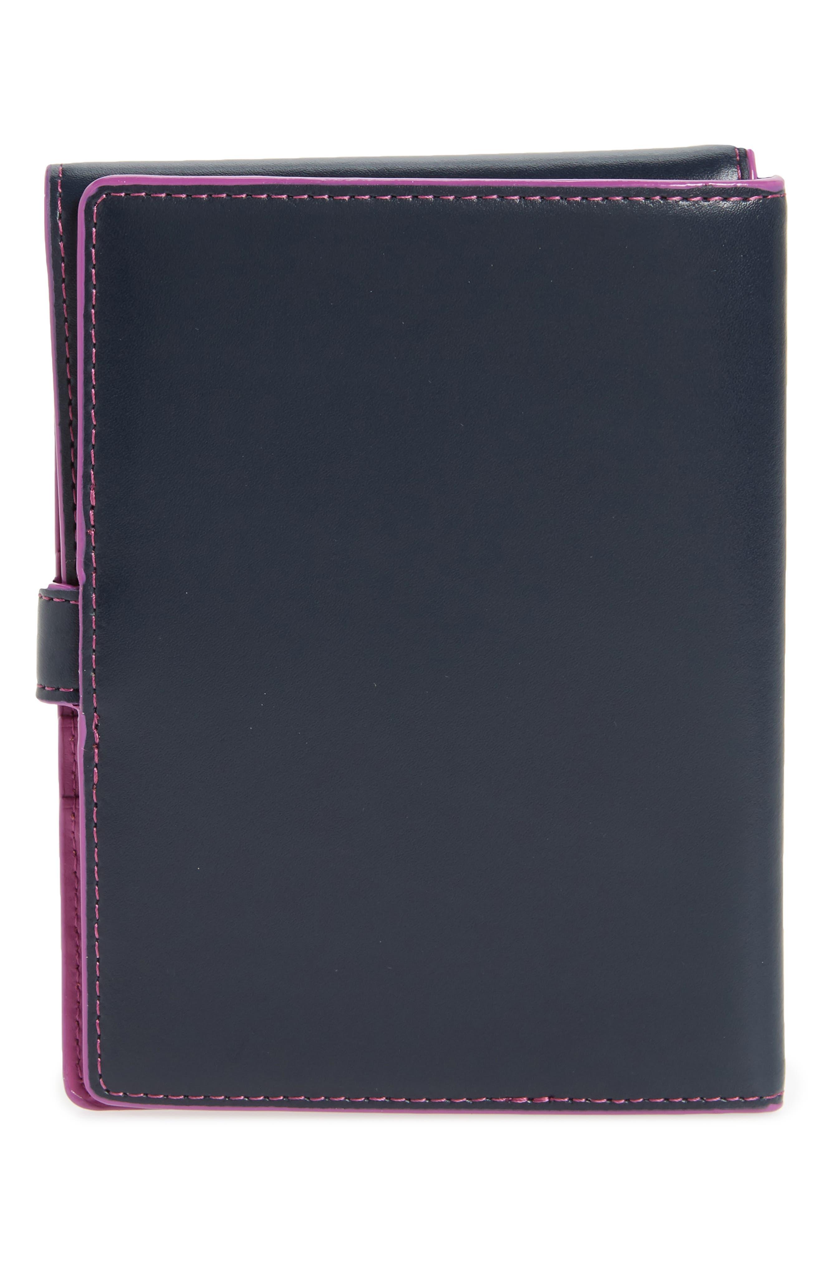 Audrey RFID Leather Passport Wallet,                             Alternate thumbnail 22, color,