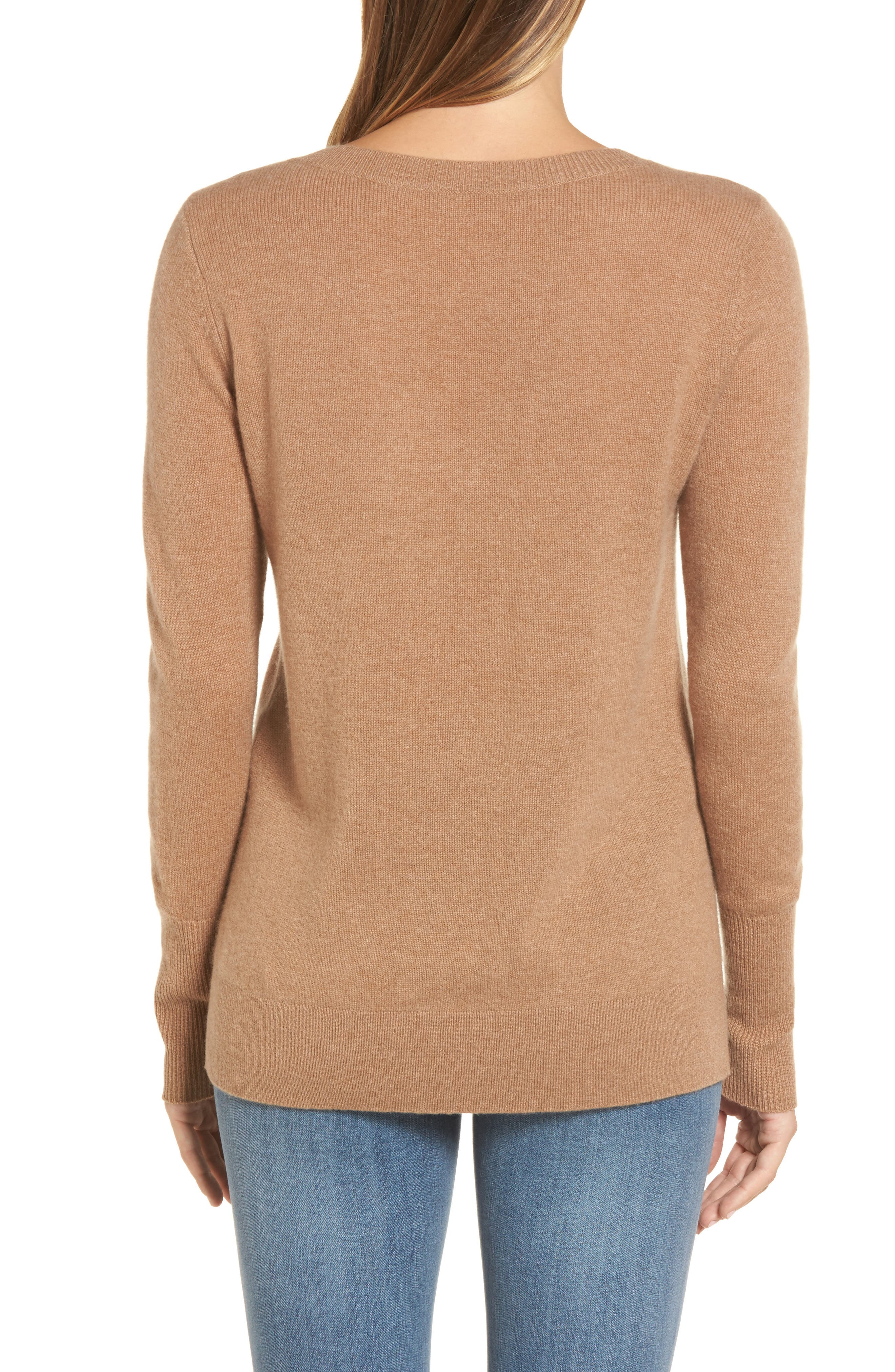 V-Neck Cashmere Sweater,                             Alternate thumbnail 22, color,