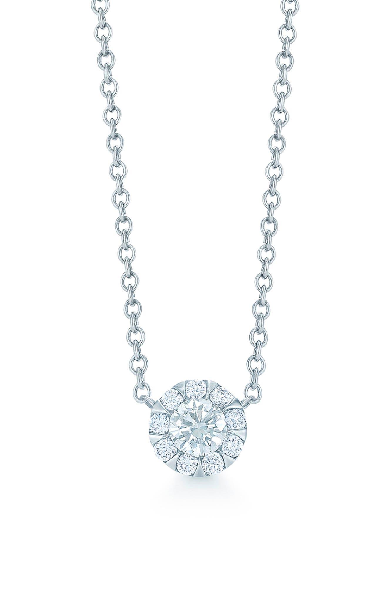 'Sunburst' Diamond Pendant Necklace,                             Main thumbnail 1, color,                             710