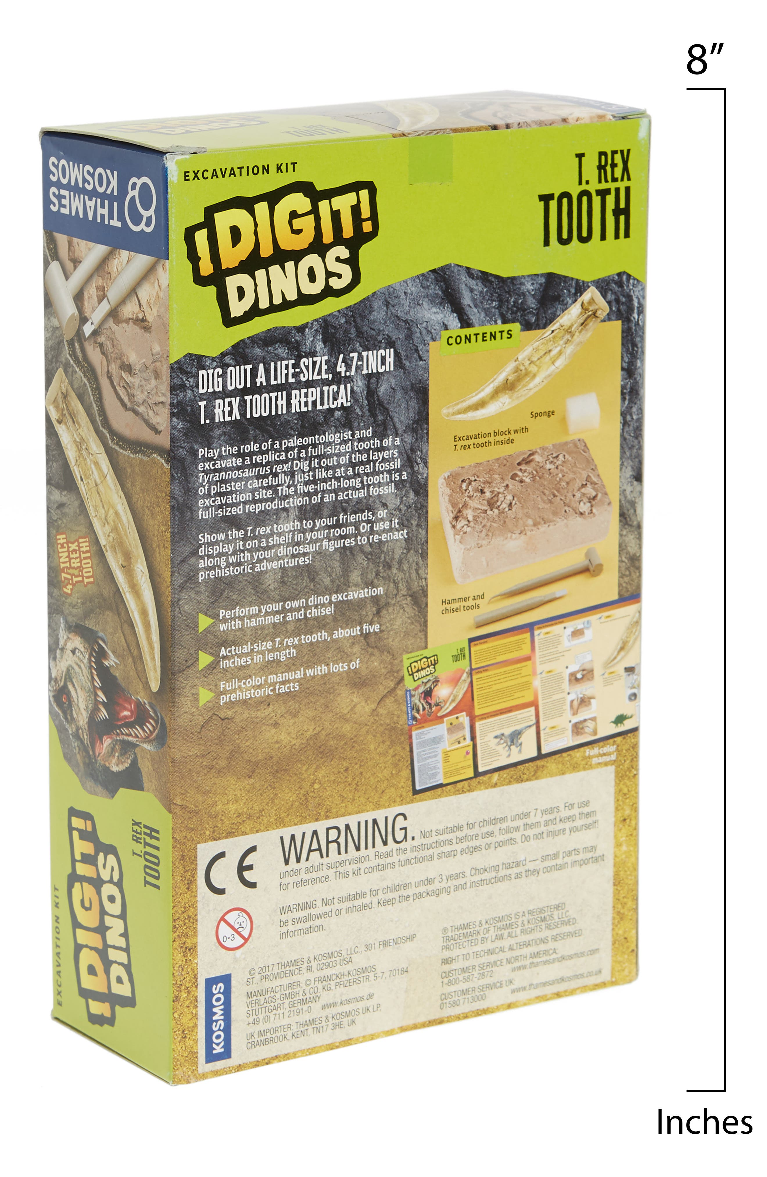 I Dig It! 5-Piece T-Rex Tooth Excavation Kit,                             Alternate thumbnail 2, color,                             250
