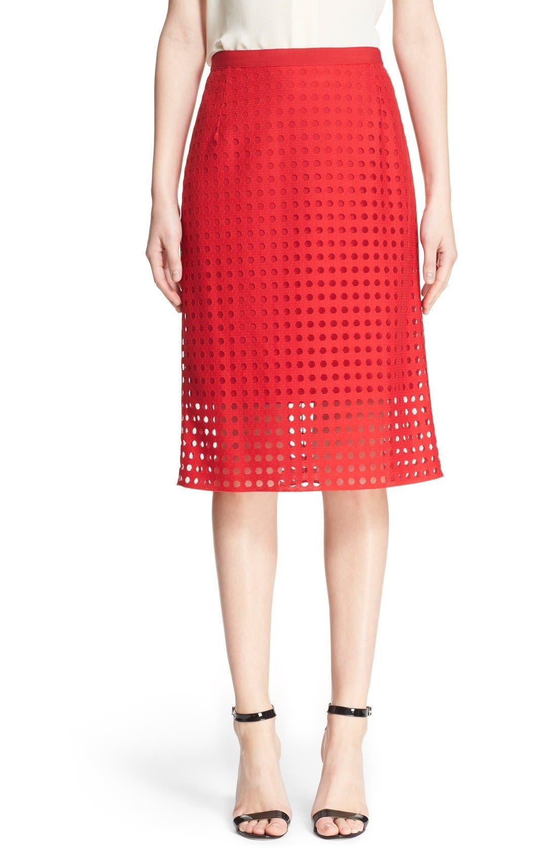 Mesh Pencil Skirt,                             Main thumbnail 1, color,                             600