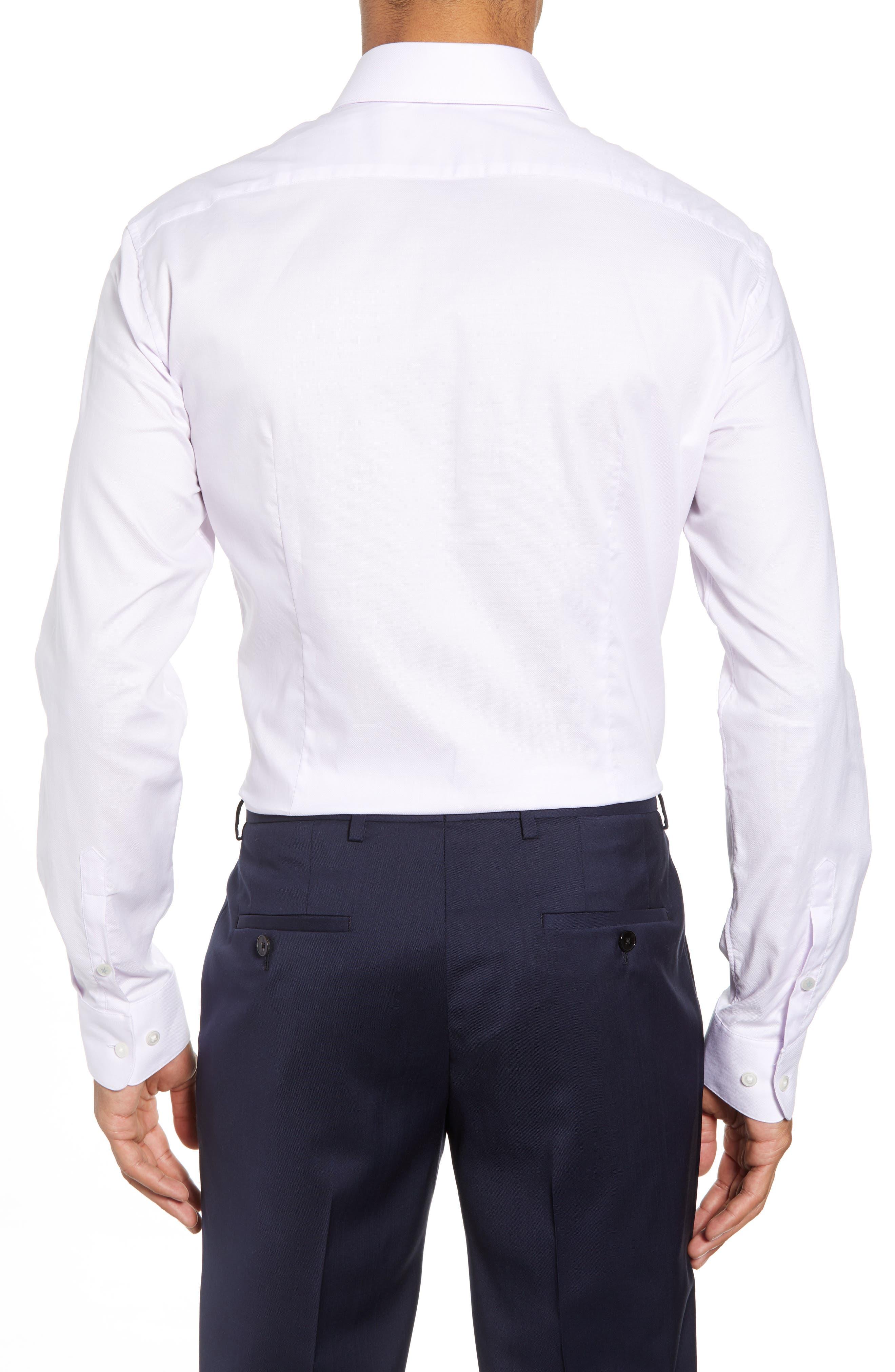 Slim Fit Check Dress Shirt,                             Alternate thumbnail 3, color,                             PINK HAZE