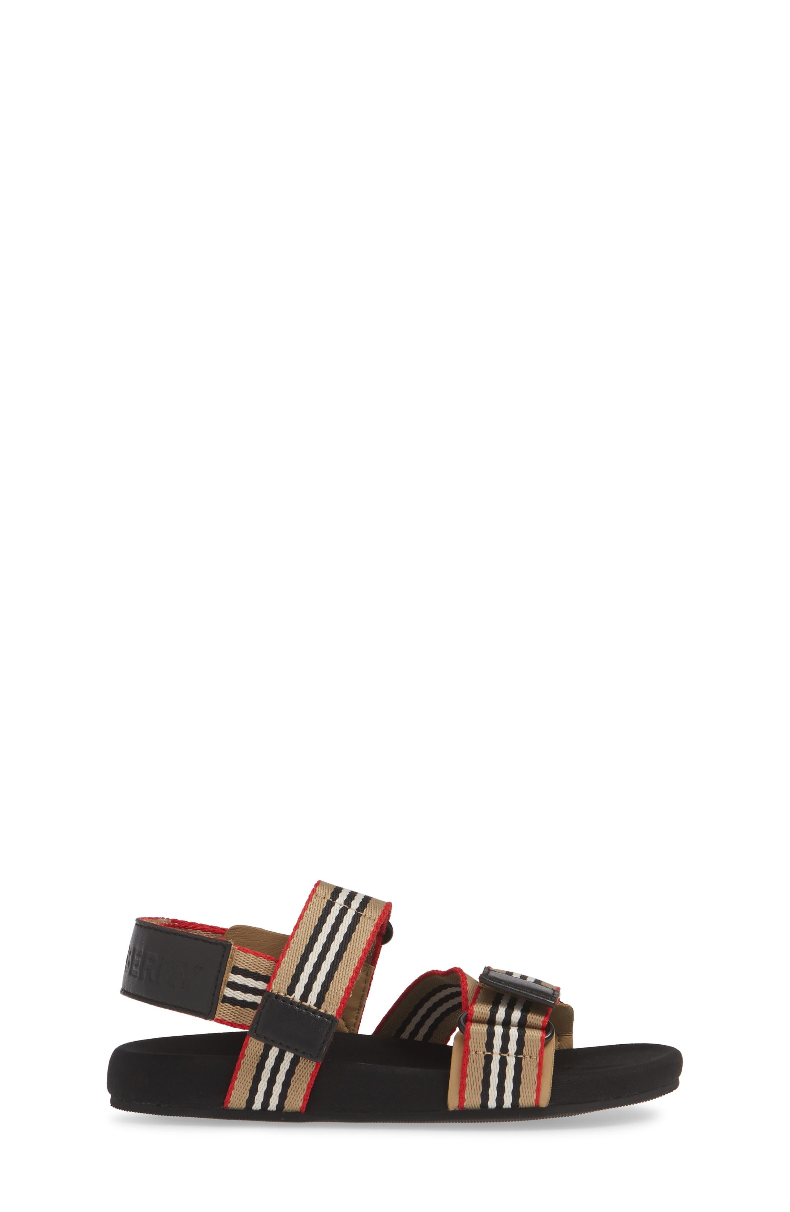 BURBERRY,                             Redmire Sandal,                             Alternate thumbnail 3, color,                             ARCH BEIGE/BLACK