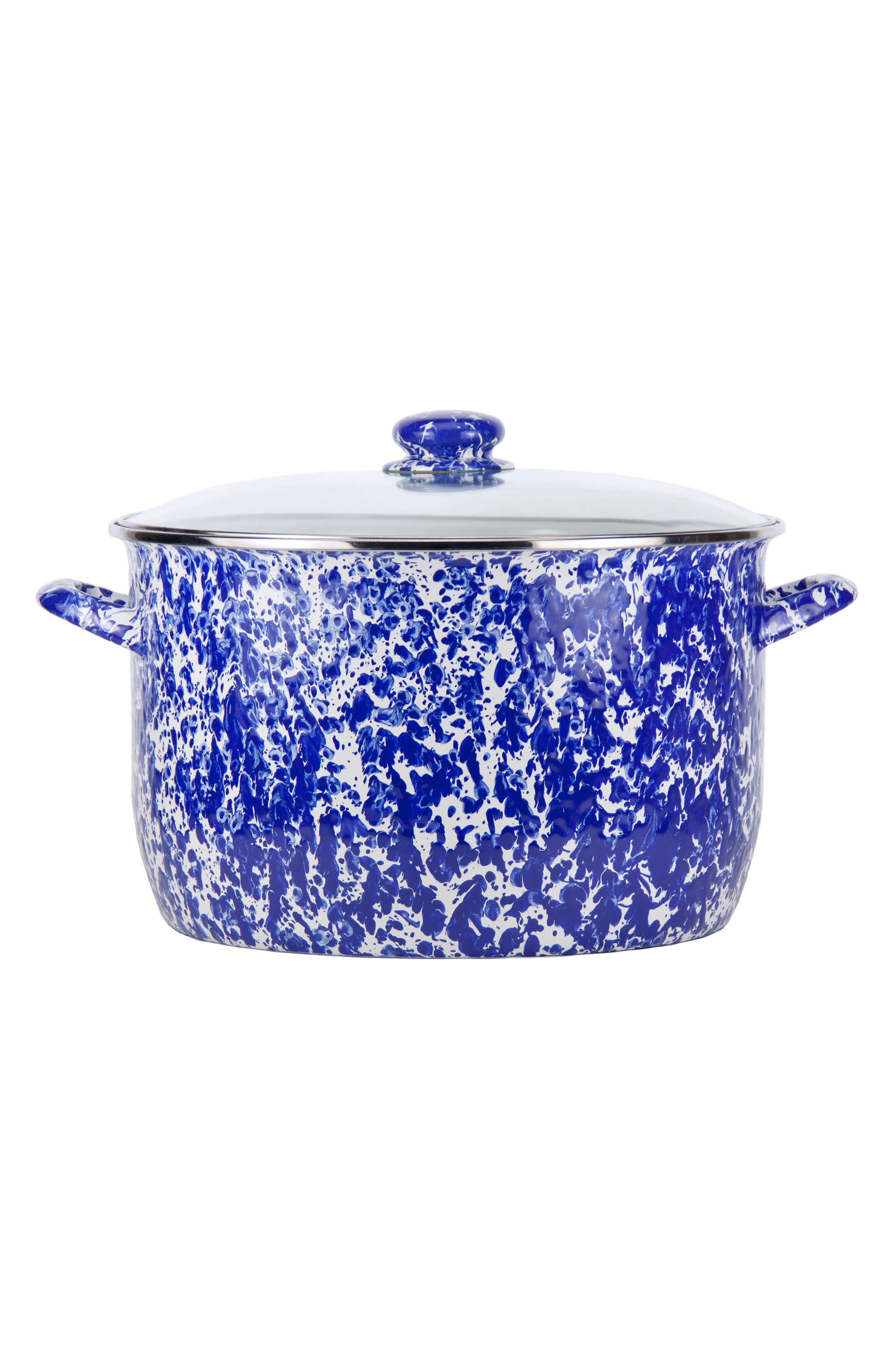 18-Quart Stock Pot,                         Main,                         color, BLUE SWIRL