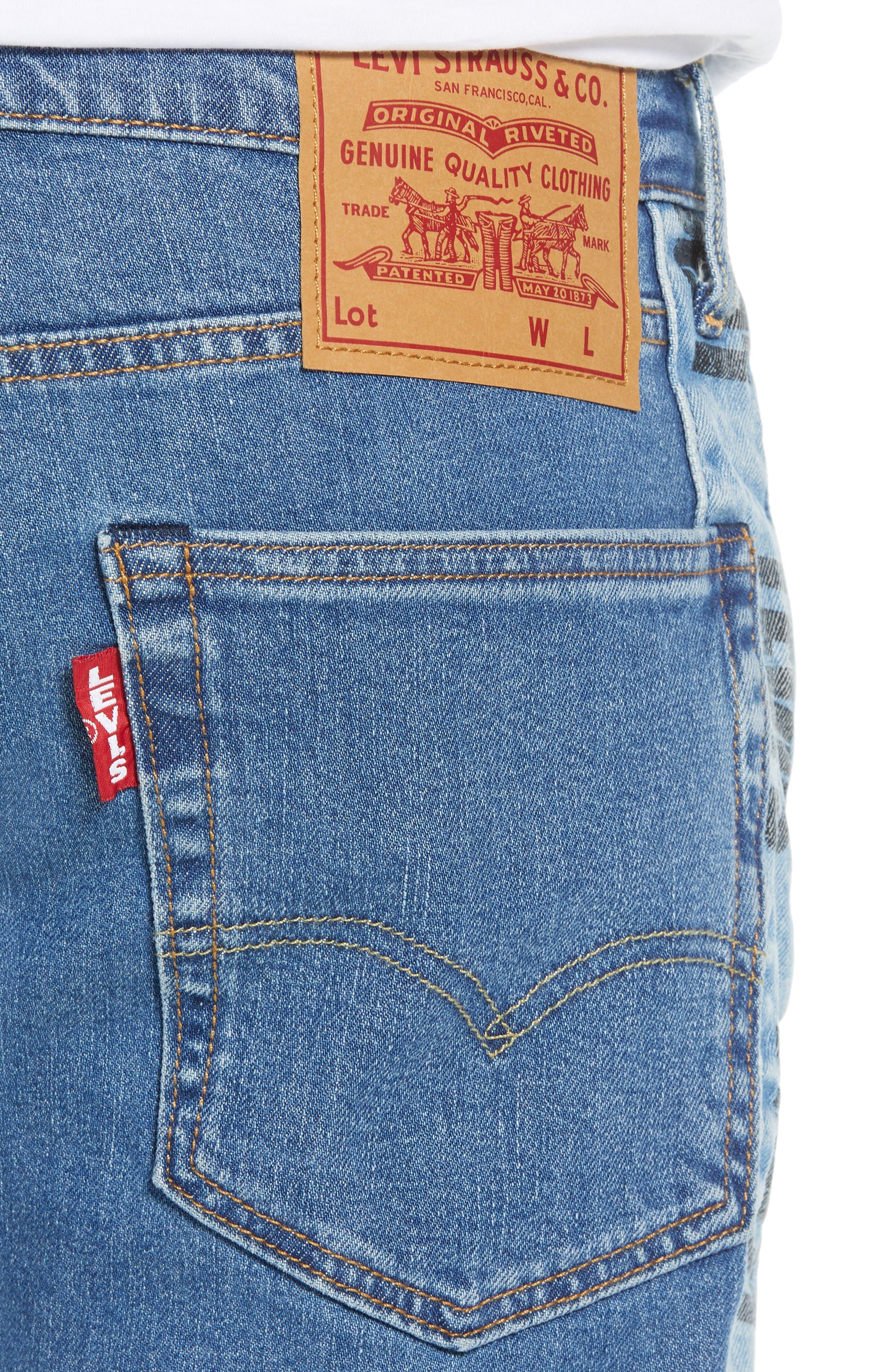 Hi-Ball Straight Leg Jeans,                             Alternate thumbnail 4, color,                             MEDIUM BLUE