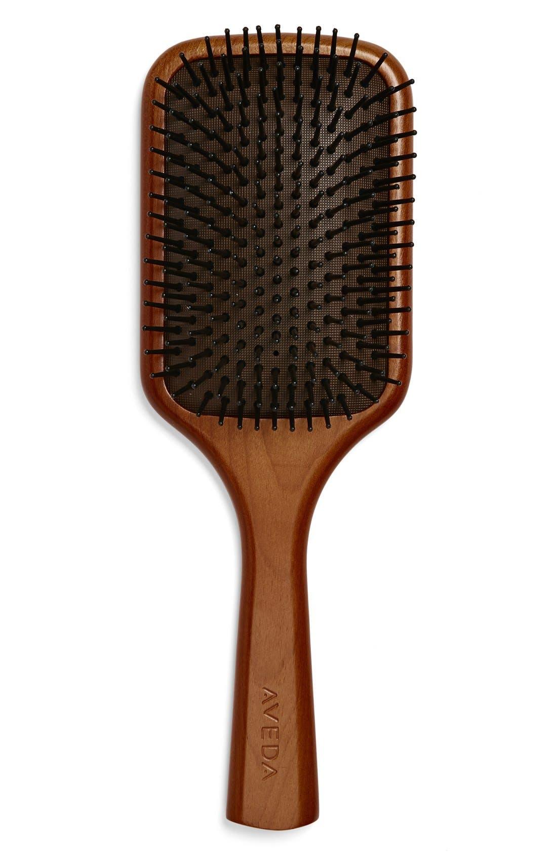 AVEDA,                             Wooden Paddle Brush,                             Main thumbnail 1, color,                             NO COLOR