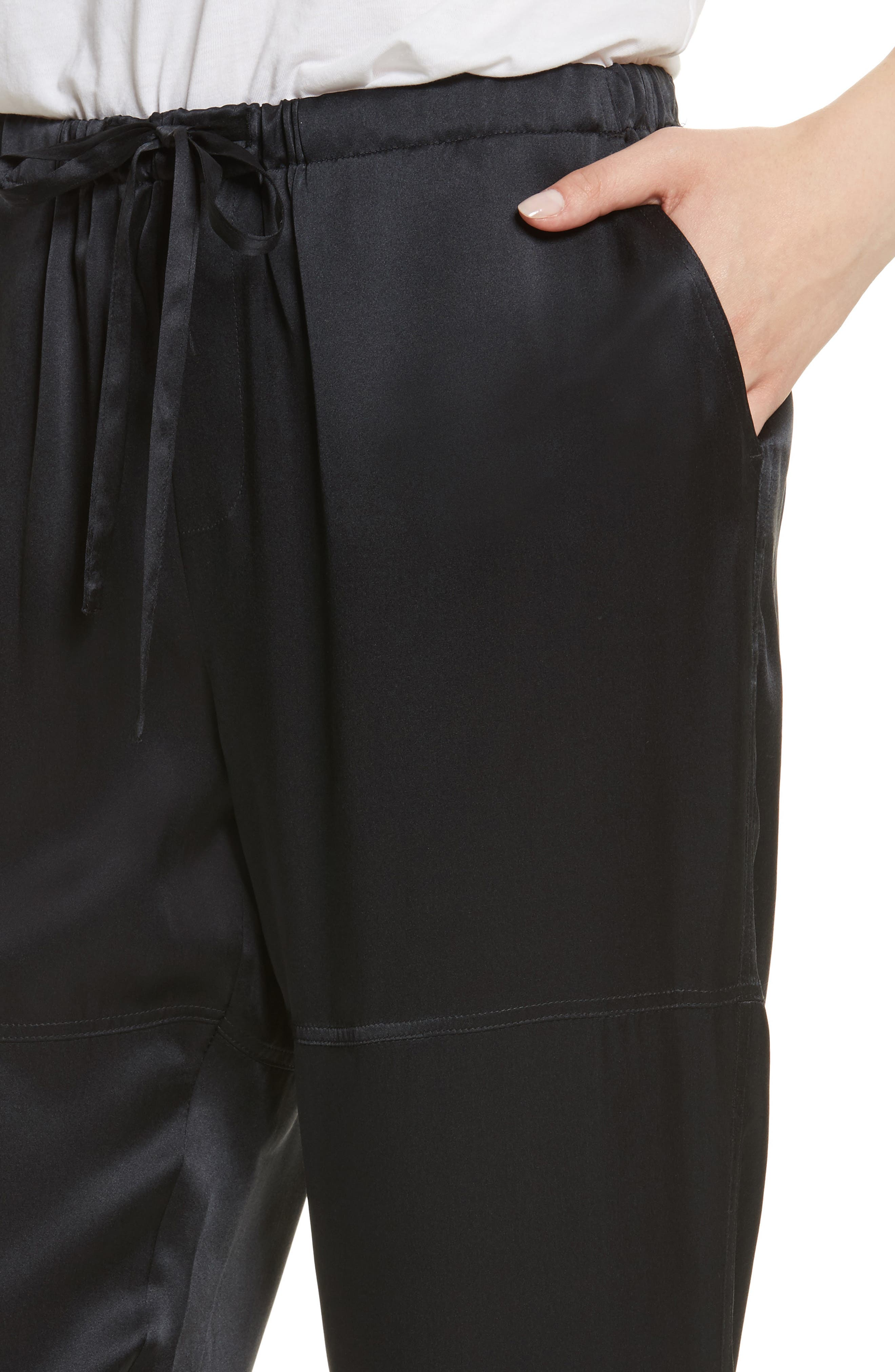 Dyre D Silk Jogger Pants,                             Alternate thumbnail 4, color,                             002